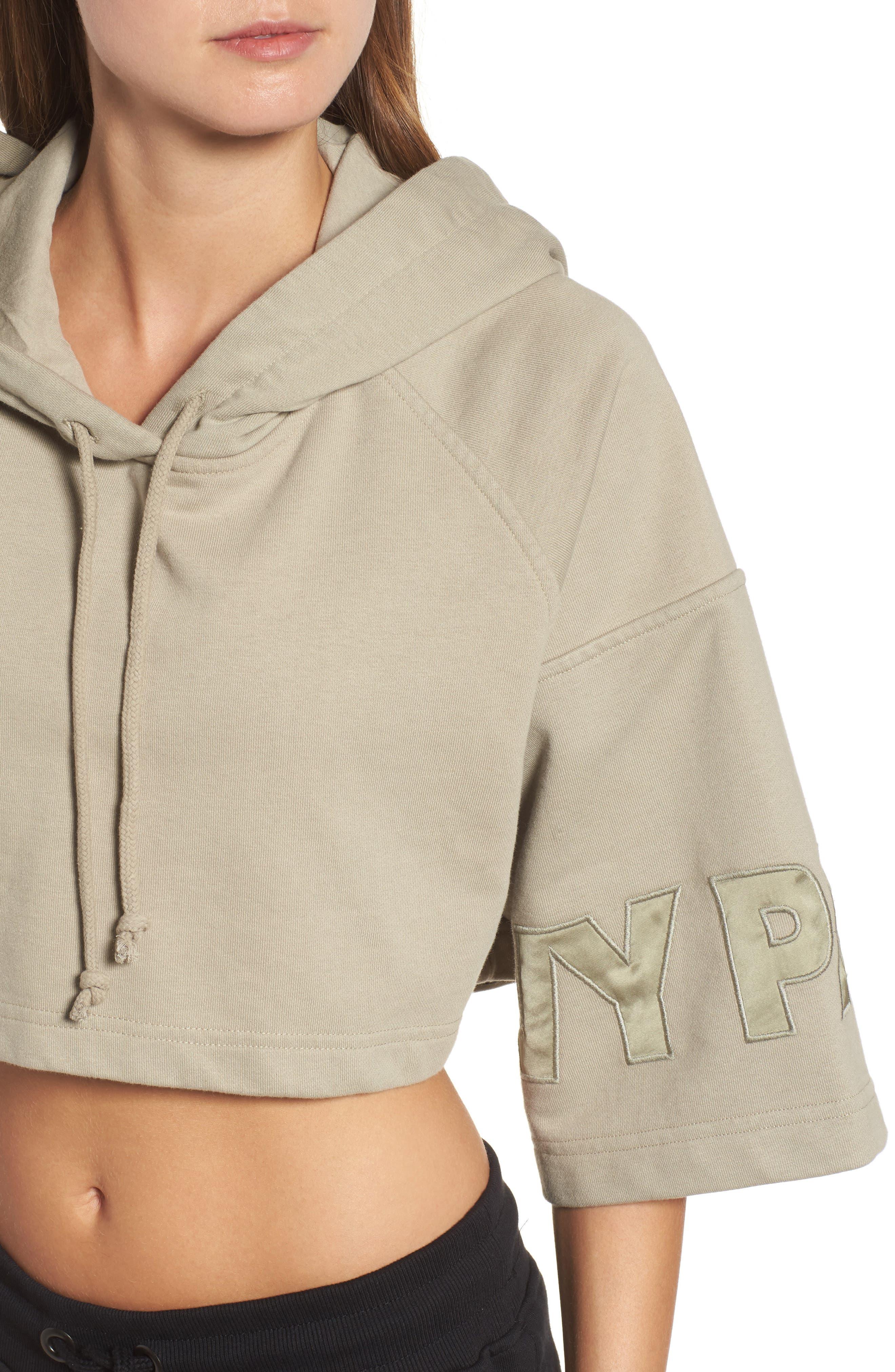 Alternate Image 4  - IVY PARK® Short Sleeve Crop Hoodie