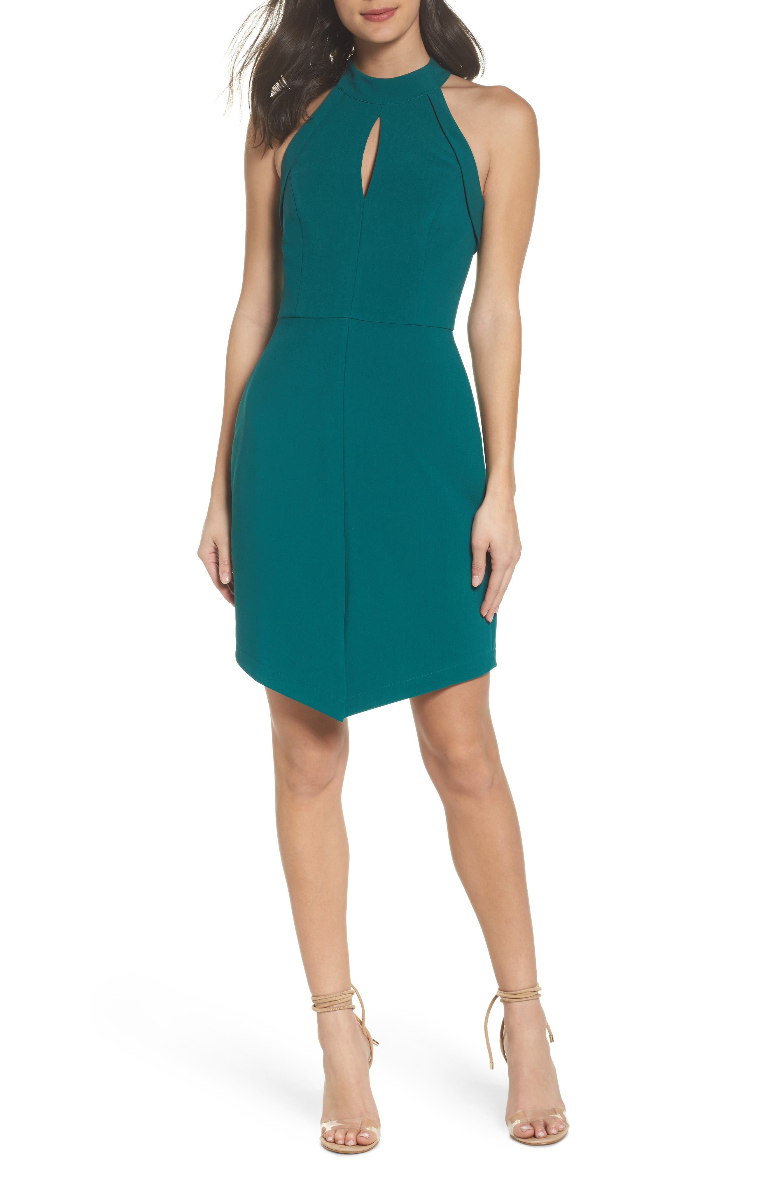 Marlena Sheath Dress,                         Main,                         color, Teal