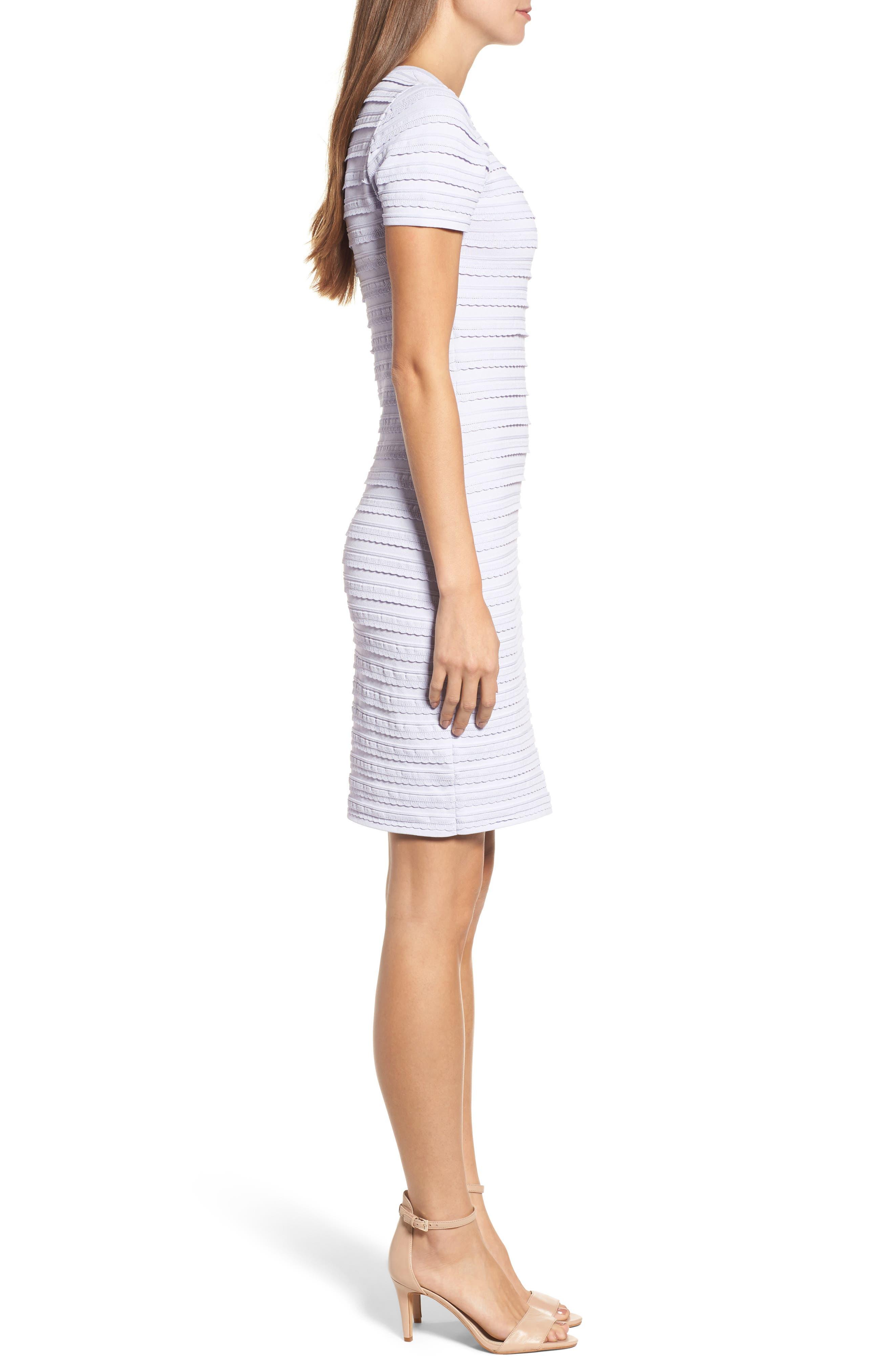 Tiered Sheath Dress,                             Alternate thumbnail 3, color,                             Light Quartz
