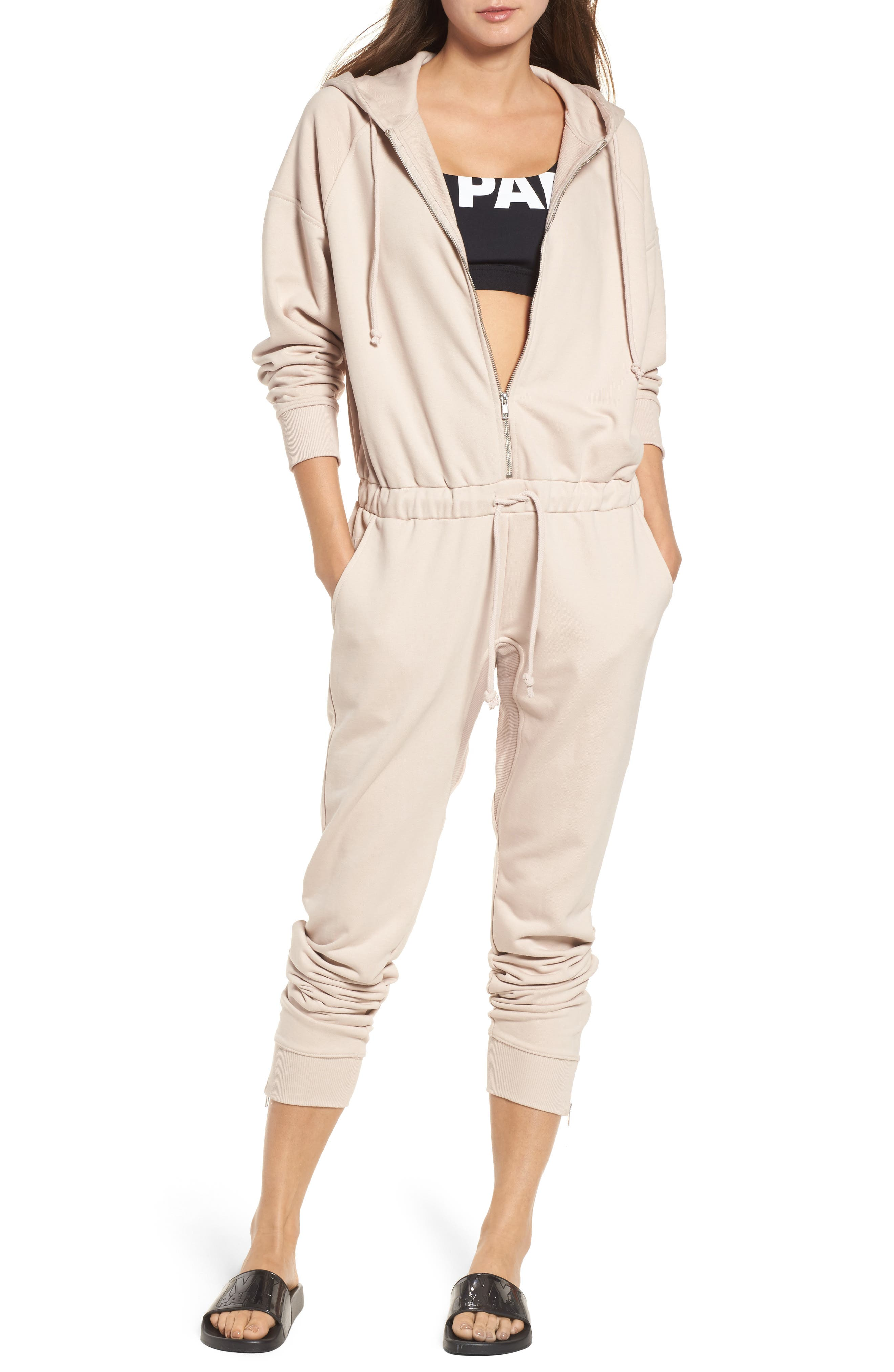 Alternate Image 1 Selected - IVY PARK® Hooded Jogger Jumpsuit