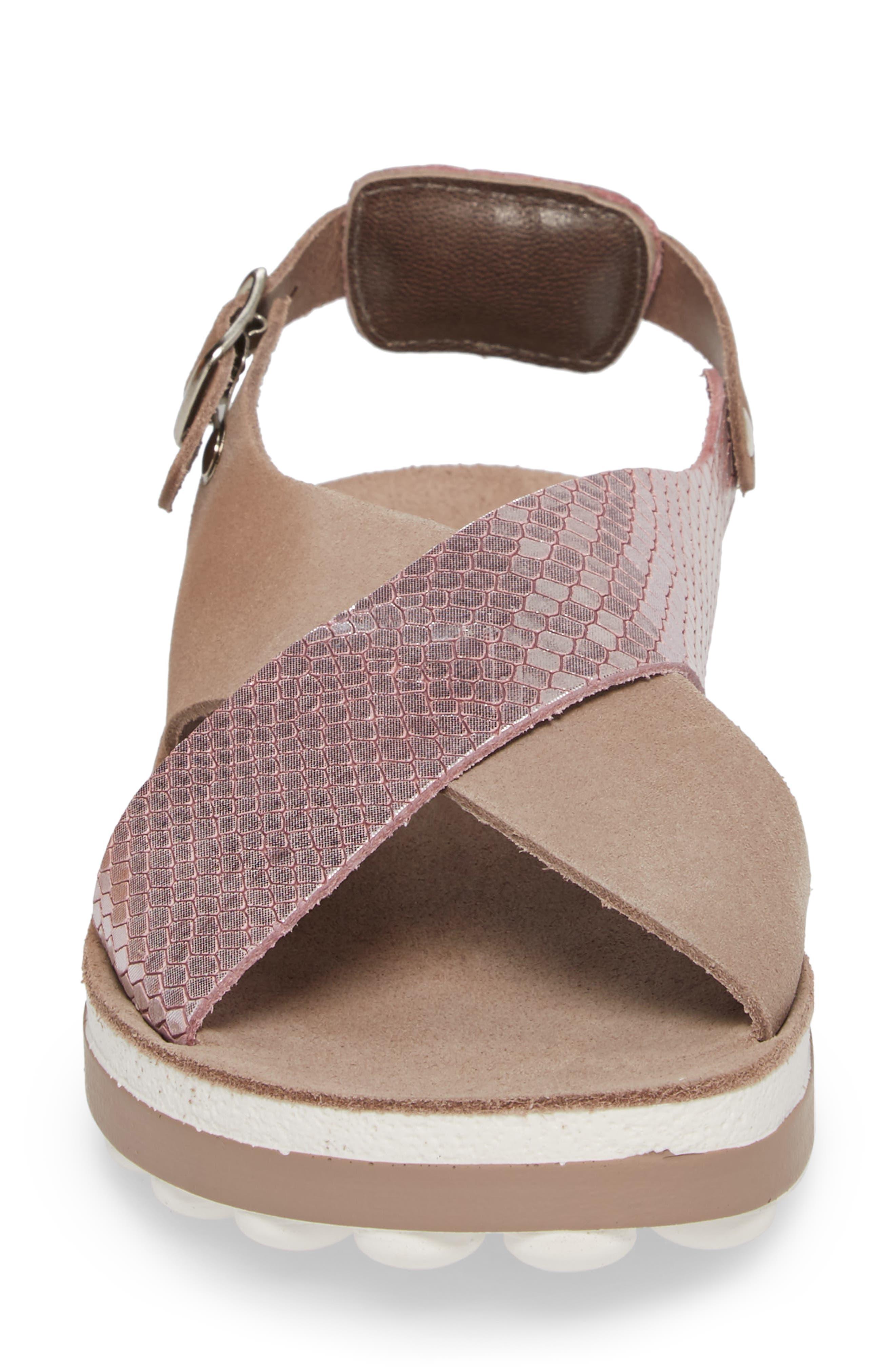 Izabella Fantasy Platform Sandal,                             Alternate thumbnail 4, color,                             Coffee Snake Leather