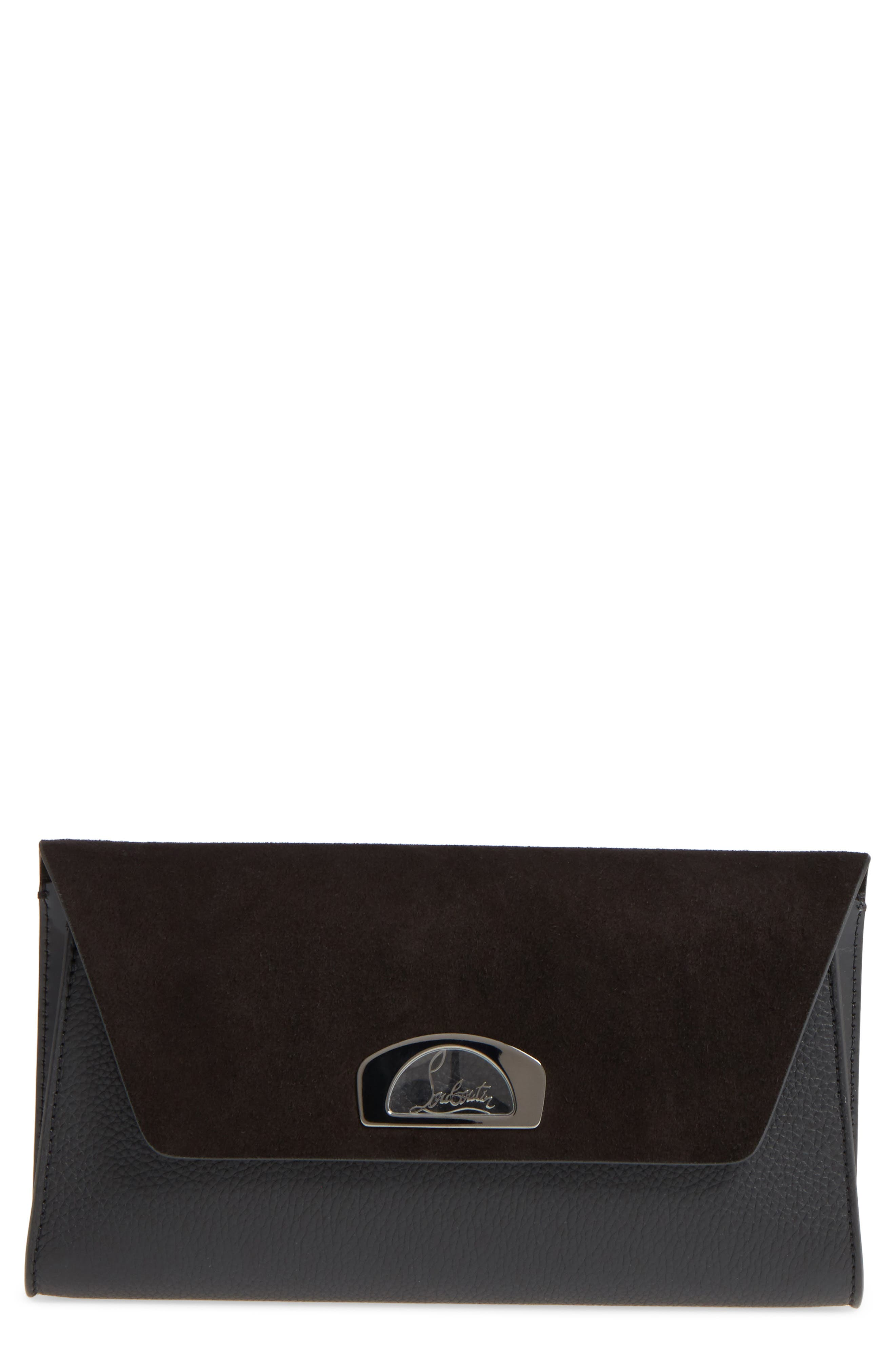 Christian Louboutin Vero Dodat Velour Suede & Leather Clutch