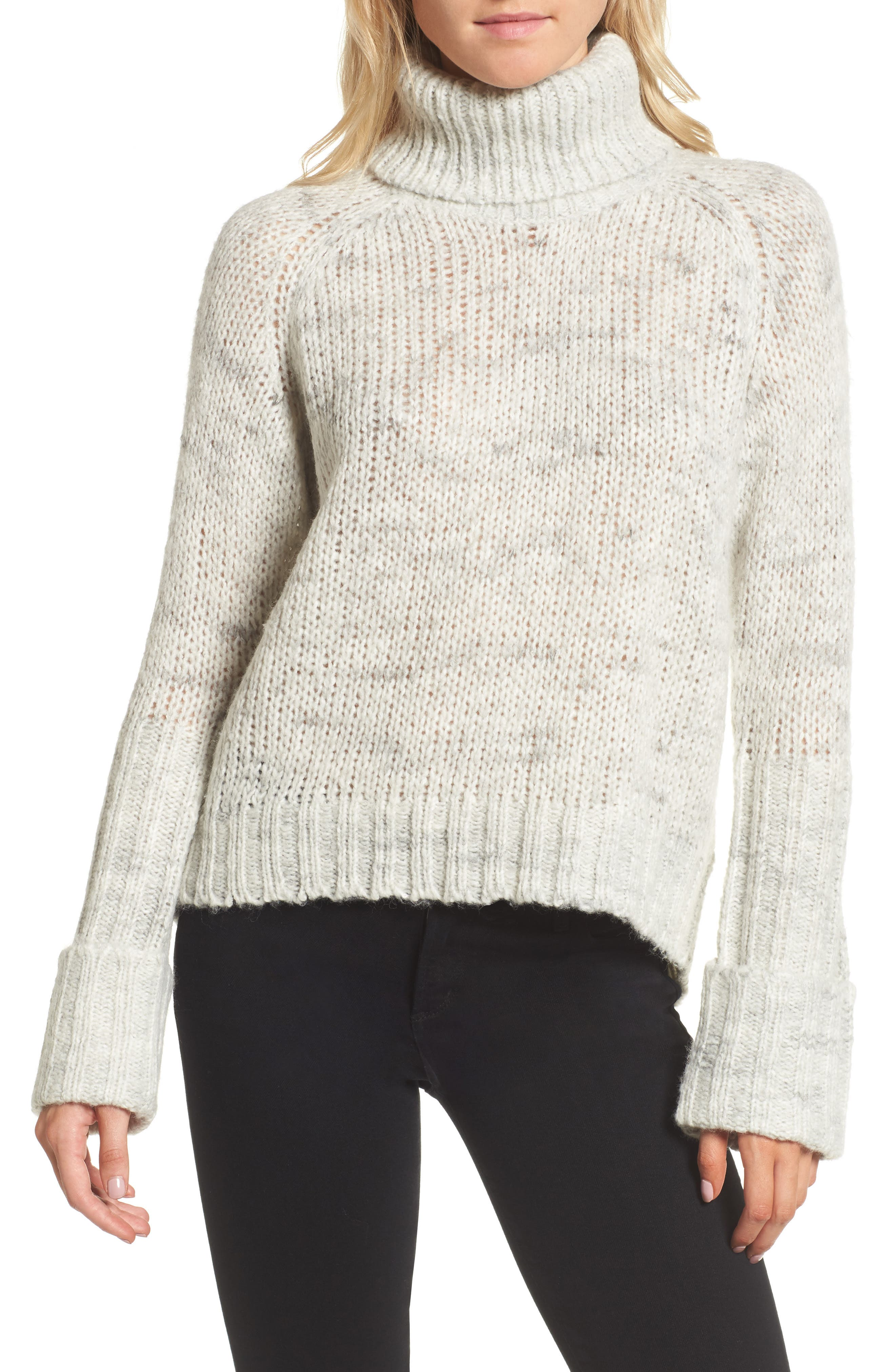 Turtleneck Sweater,                             Main thumbnail 1, color,                             New York Snow