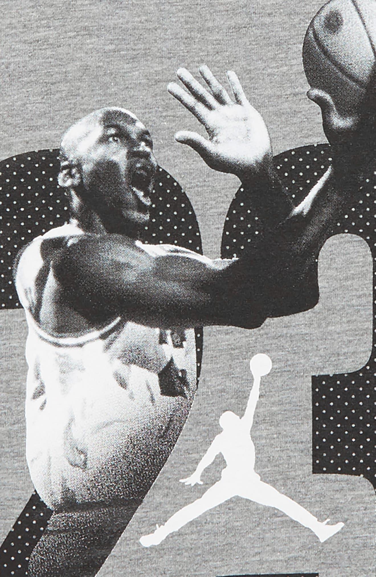 Jordan 23 Graphic Long Sleeve T-Shirt,                             Alternate thumbnail 2, color,                             Carbon Heather