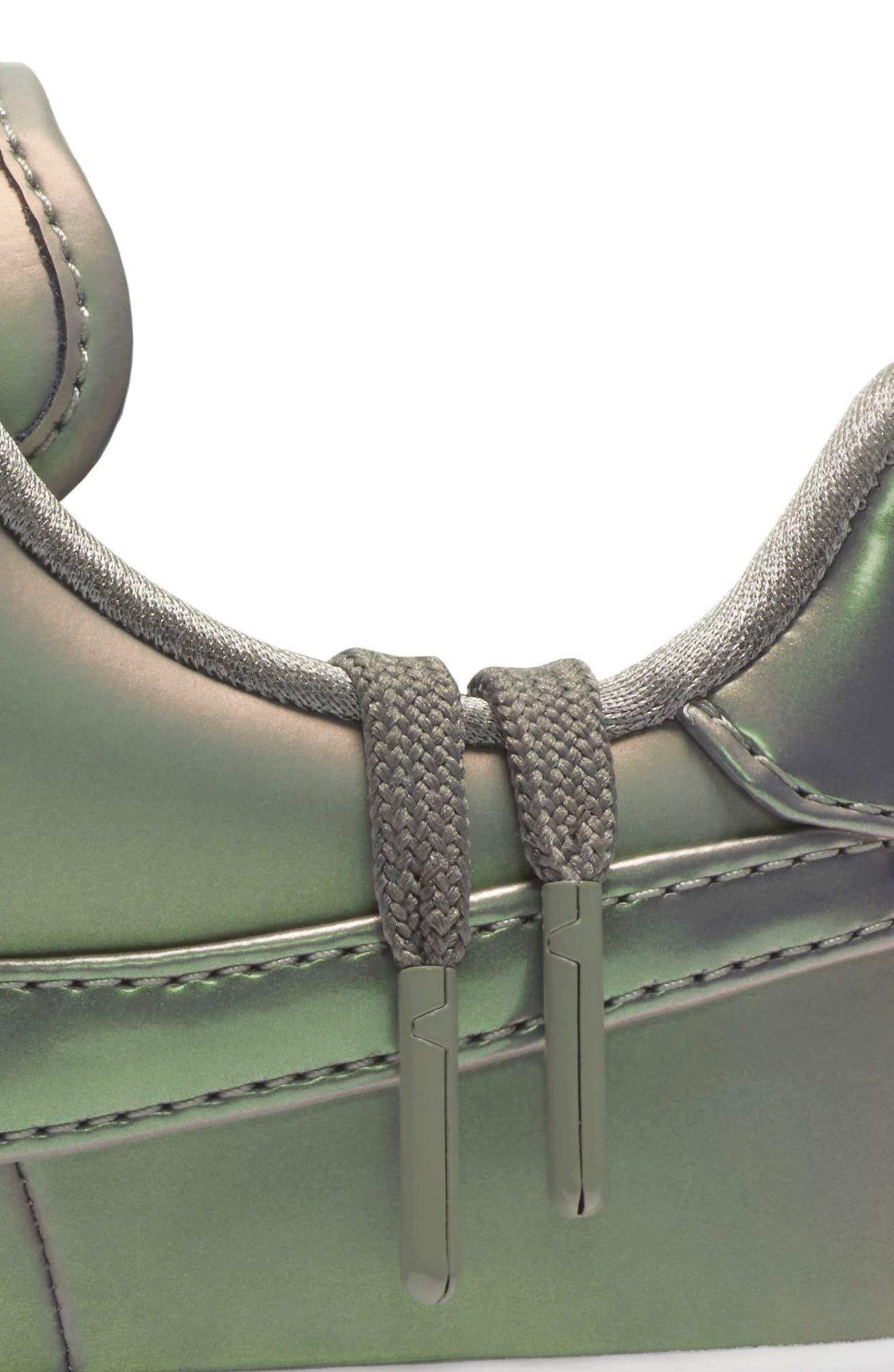 Air Force 1 Upstep Premium LX Shoe,                             Alternate thumbnail 6, color,                             Dark Stucco/ Stucco/ White