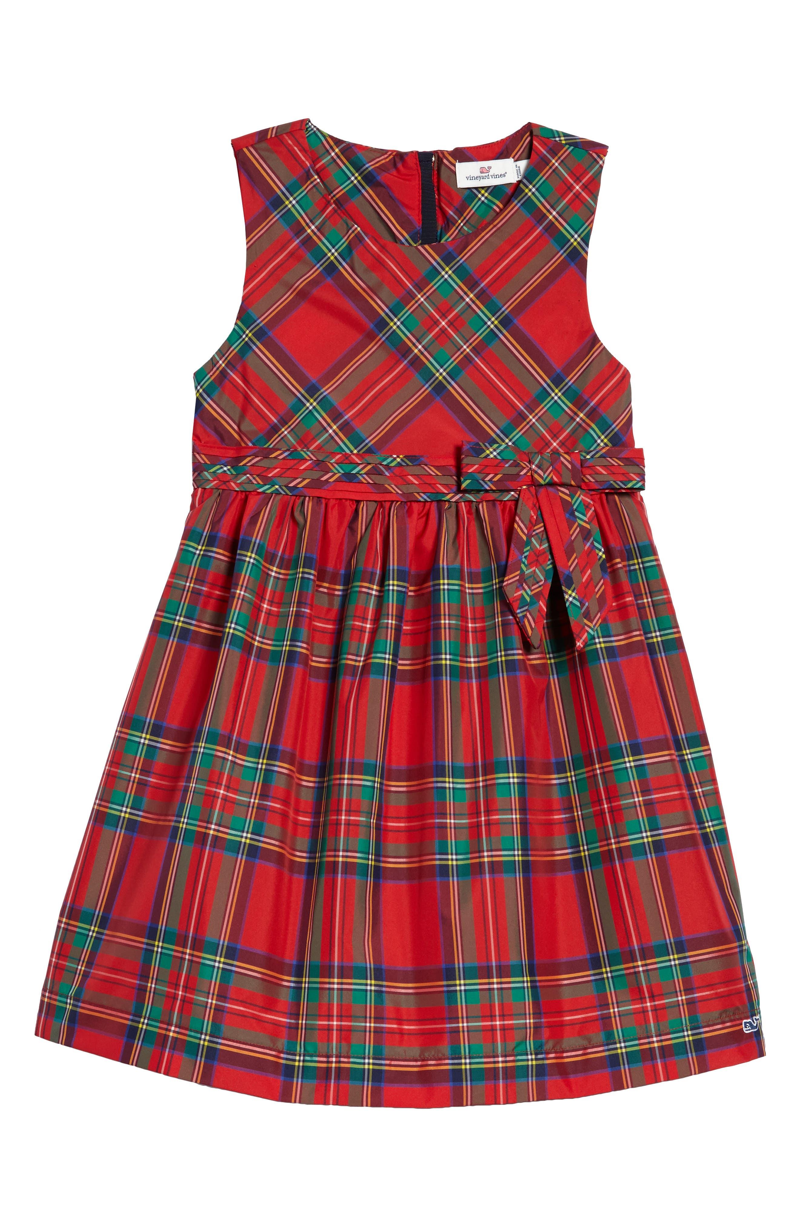 vineyard vines Jolly Plaid Holiday Dress (Toddler Girls, Little Girls & Big Girls)