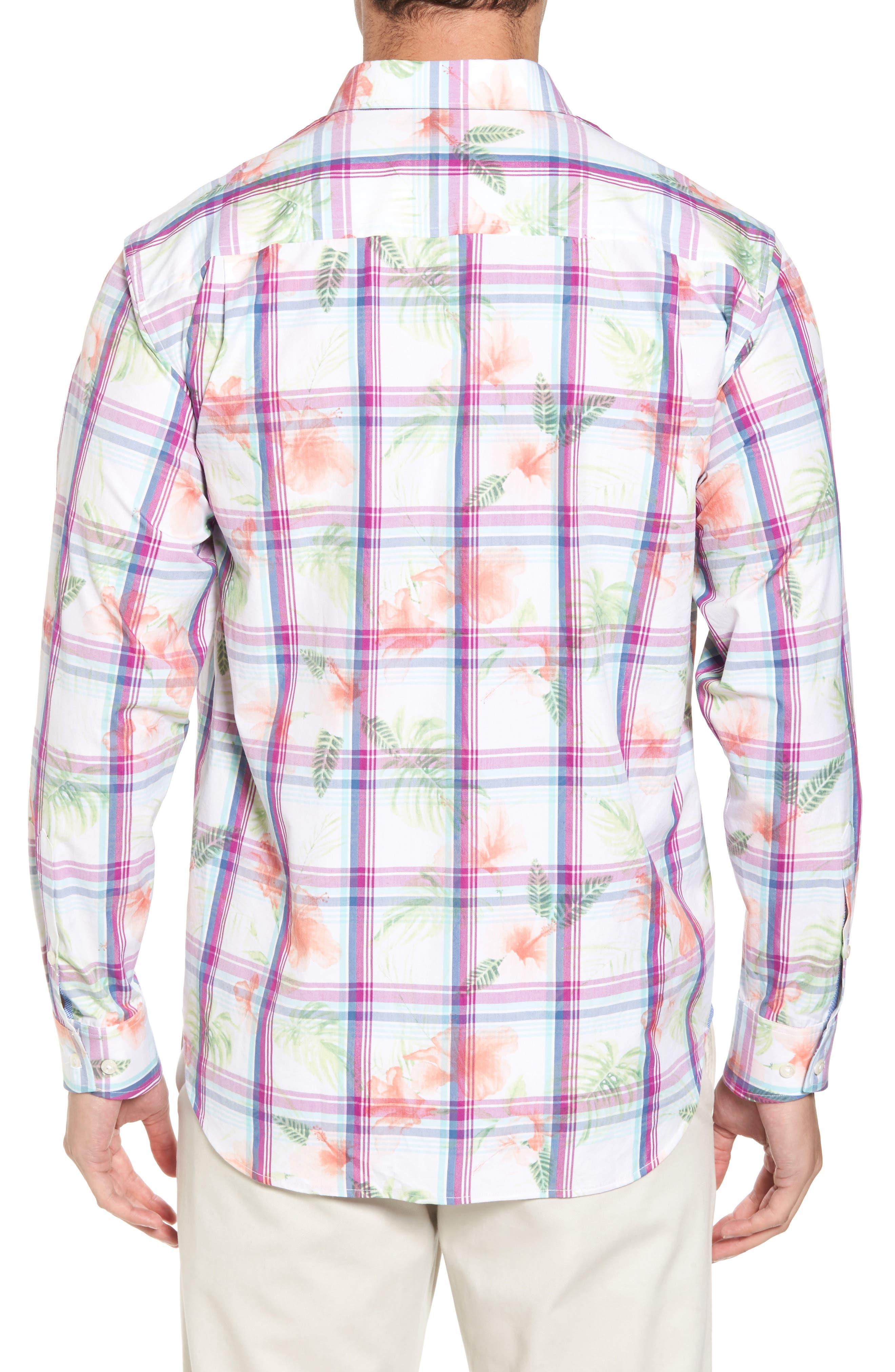 Vedado Regular Fit Plaid Sport Shirt,                             Alternate thumbnail 2, color,                             White