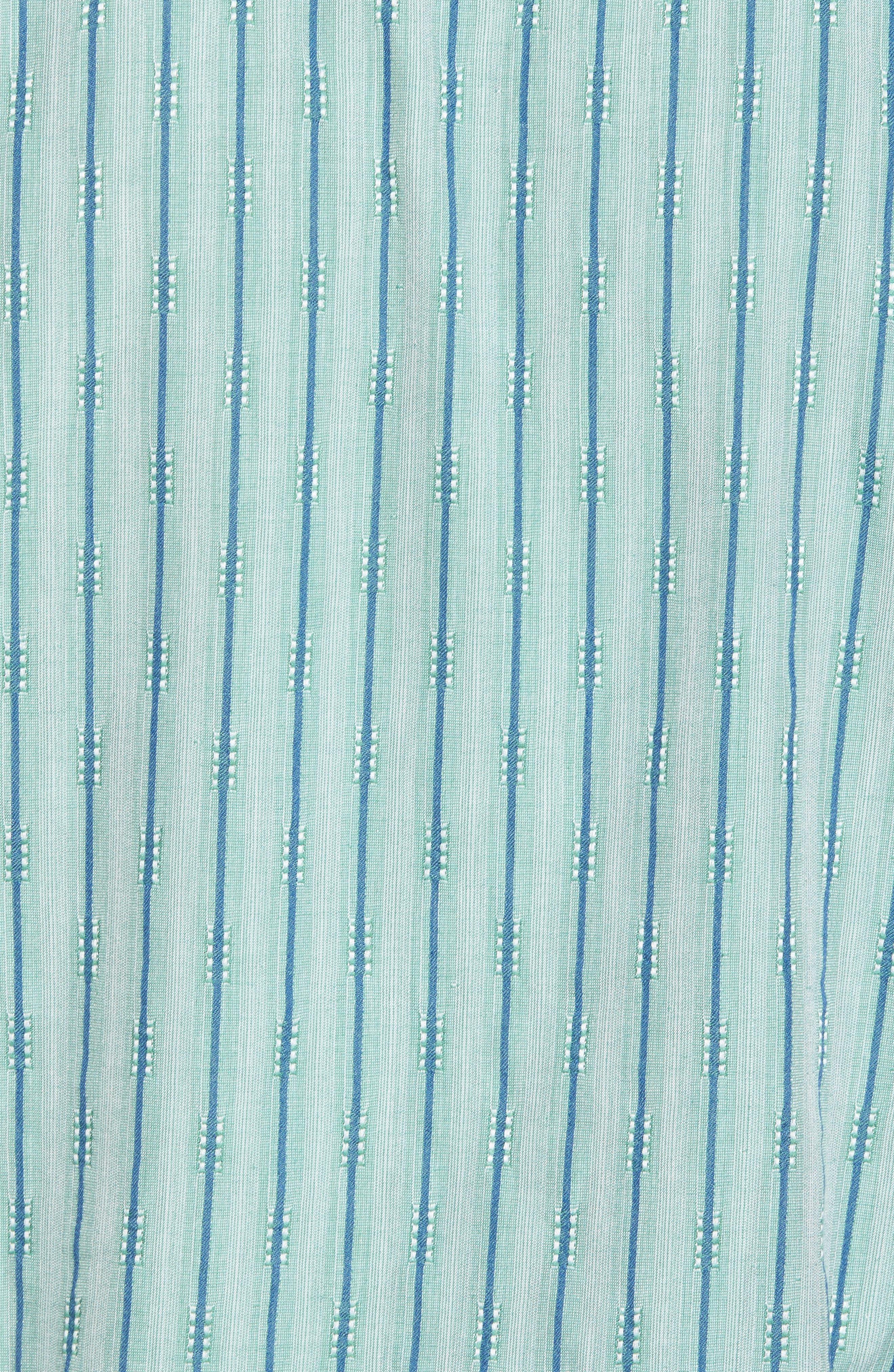 Florida Geometric Line Silk Blend Camp Shirt,                             Alternate thumbnail 5, color,                             Deep Grass Green