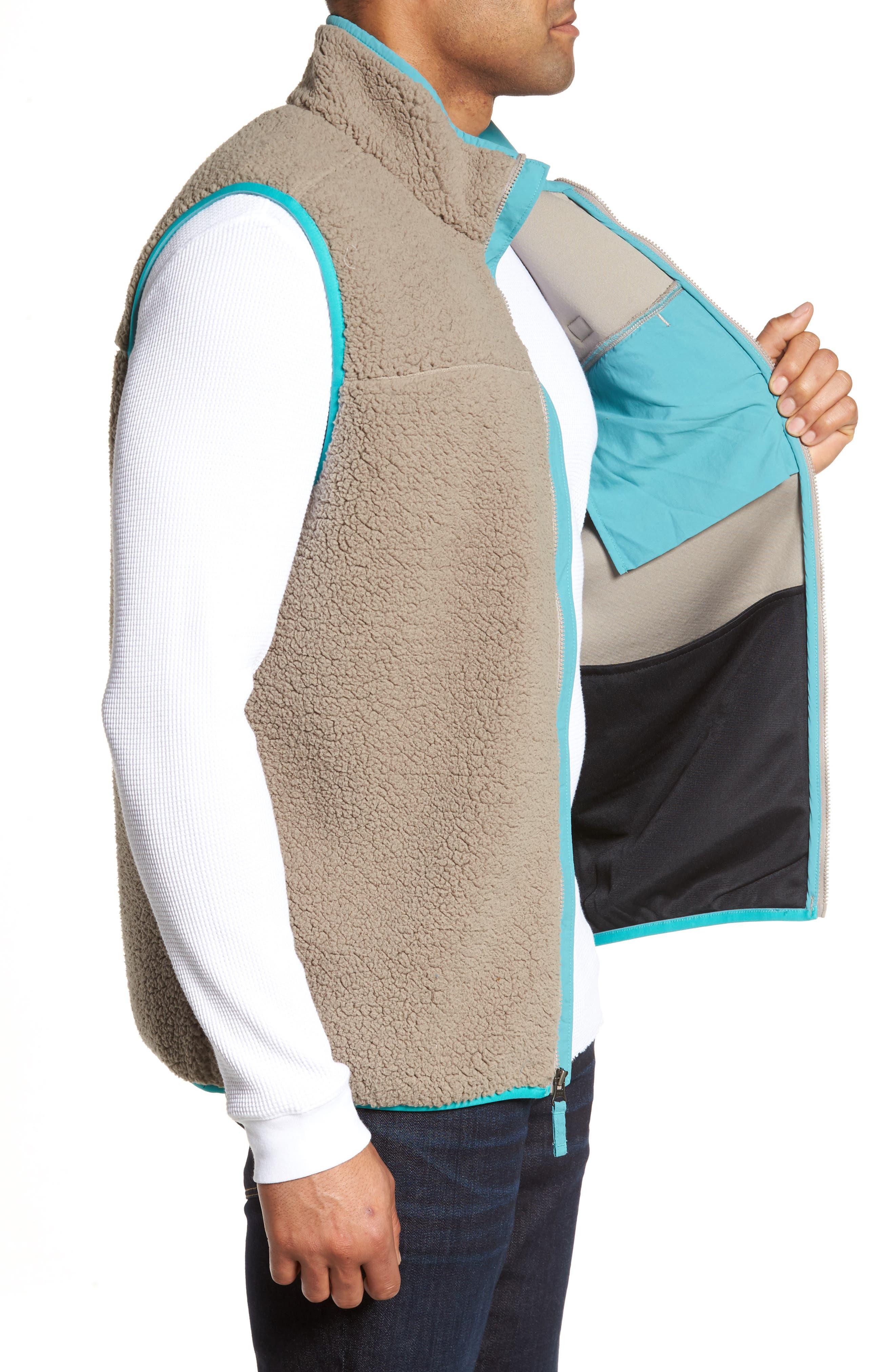 Sportswear Harborside Heavyweight Fleece Vest,                             Alternate thumbnail 3, color,                             Kettle/ Teal