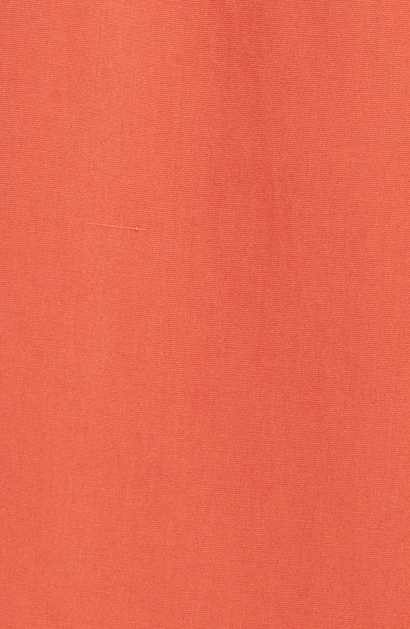 Cotton Poplin Shirtdress,                             Alternate thumbnail 5, color,                             Rust