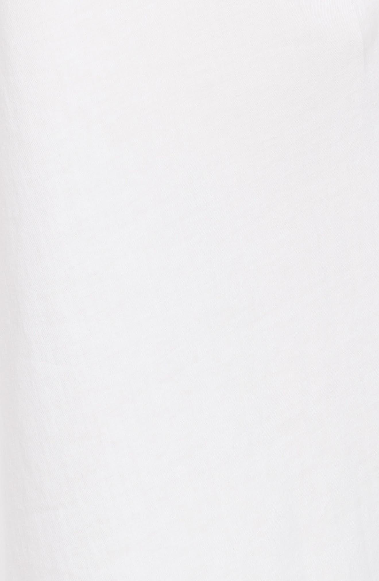 Twist Front Dress,                             Alternate thumbnail 9, color,                             Optic White