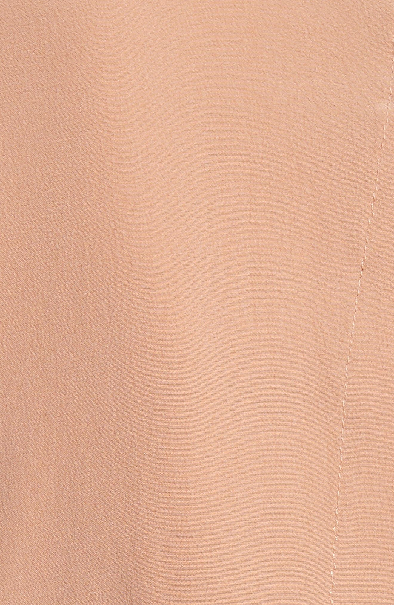 Silk Slit Back Shirtdress,                             Alternate thumbnail 6, color,                             Blush