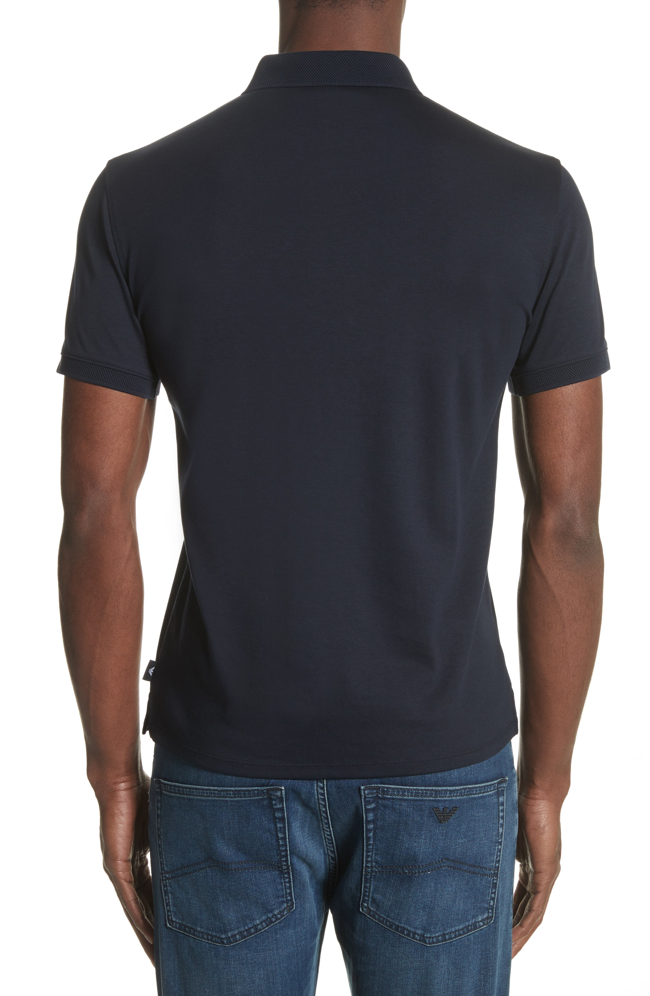 Slim Fit Polo,                             Alternate thumbnail 2, color,                             Solid Dark Blue