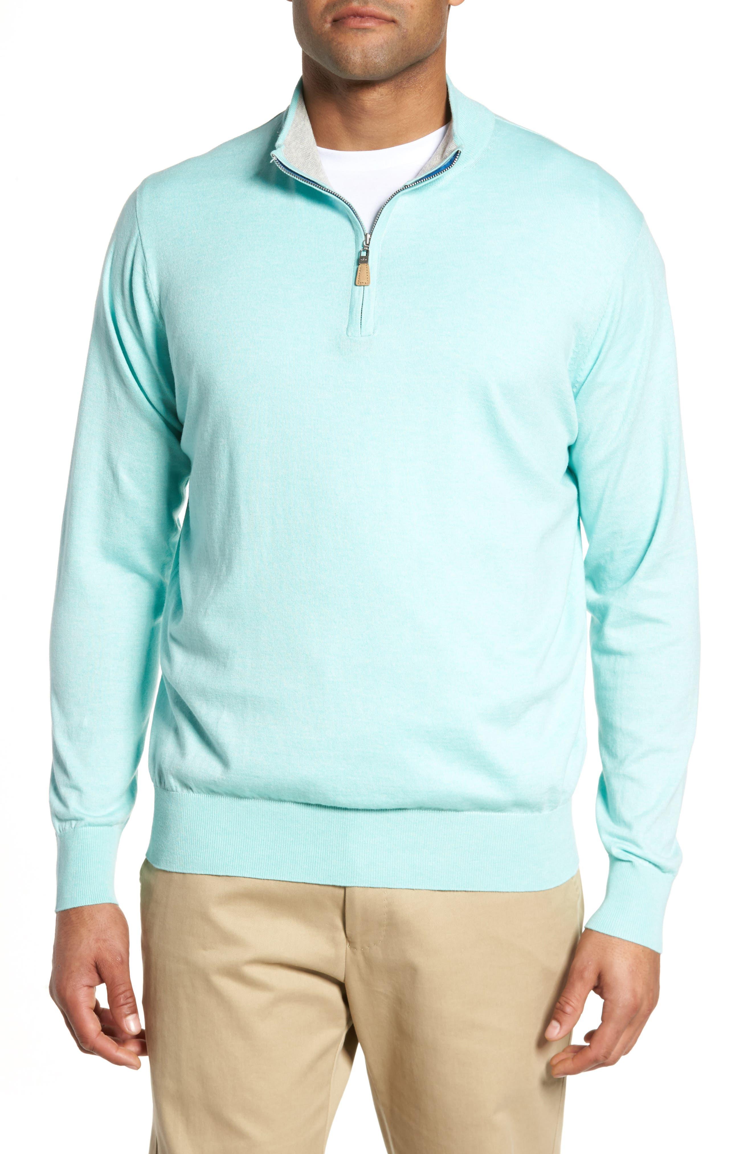 Crown Soft Quarter-Zip Pullover,                             Main thumbnail 1, color,                             Venetian Mist