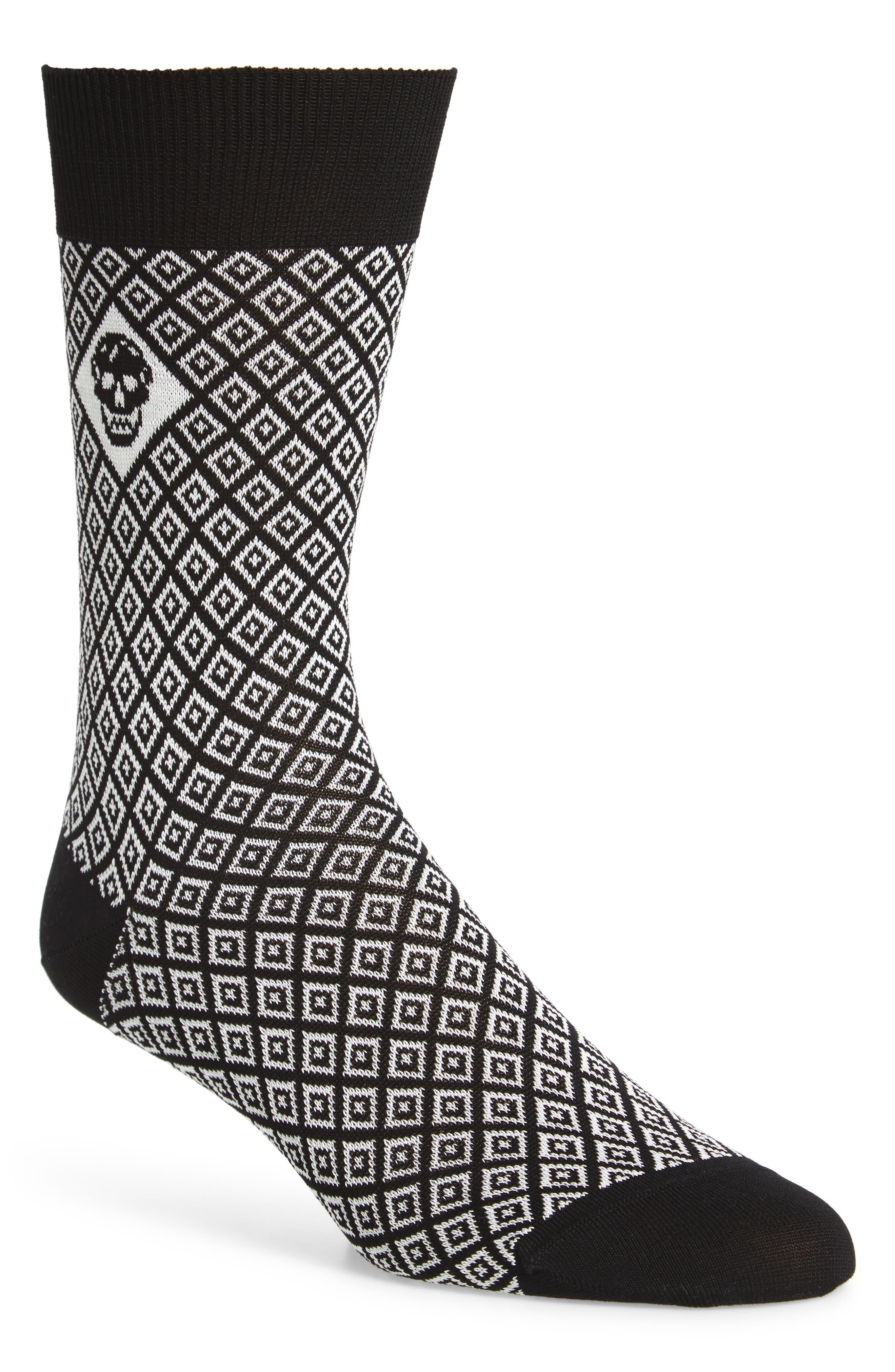 Alexander McQueen Tile & Skull Socks