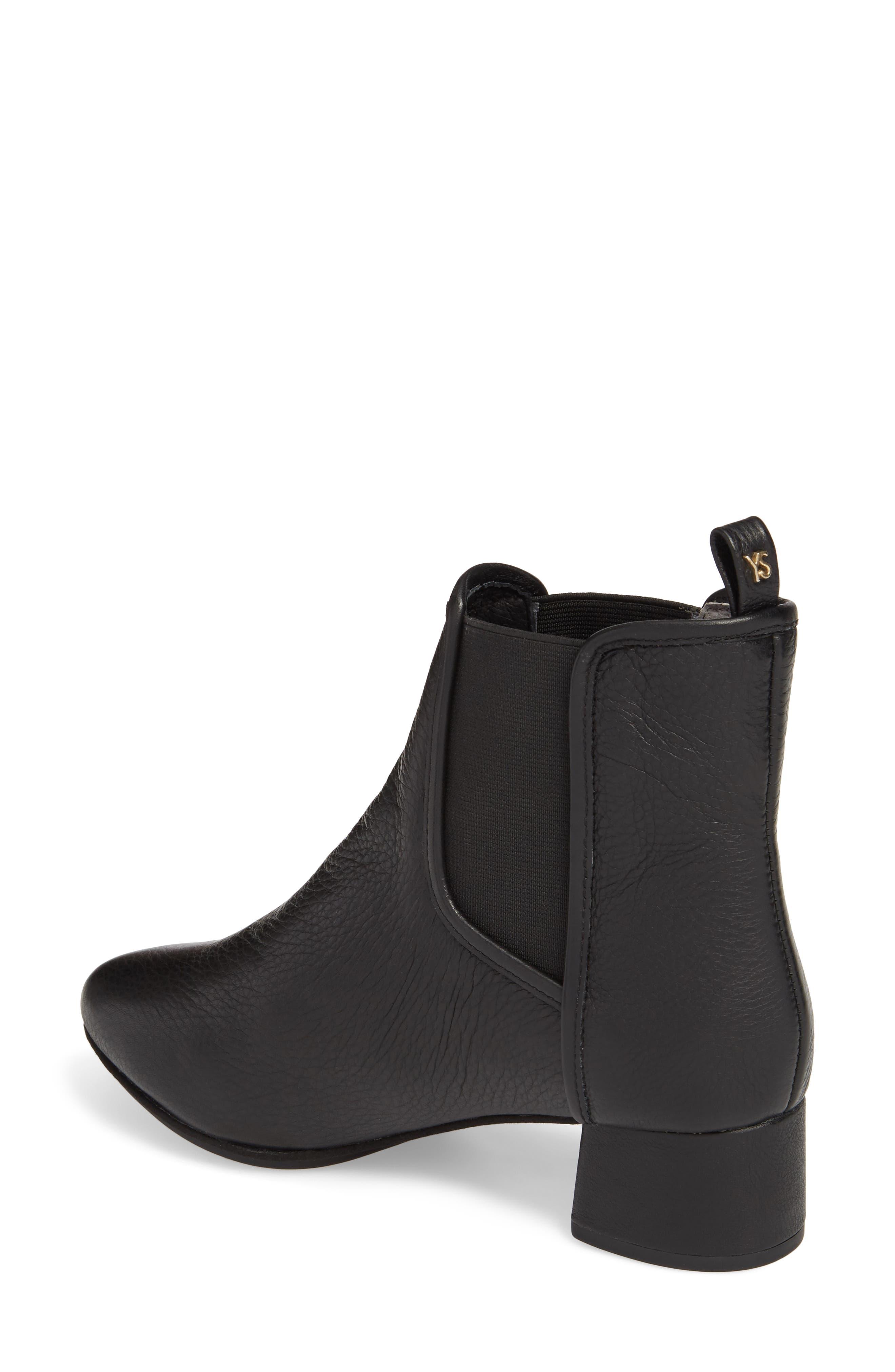 Penelope Chelsea Boot,                             Alternate thumbnail 2, color,                             Black Leather