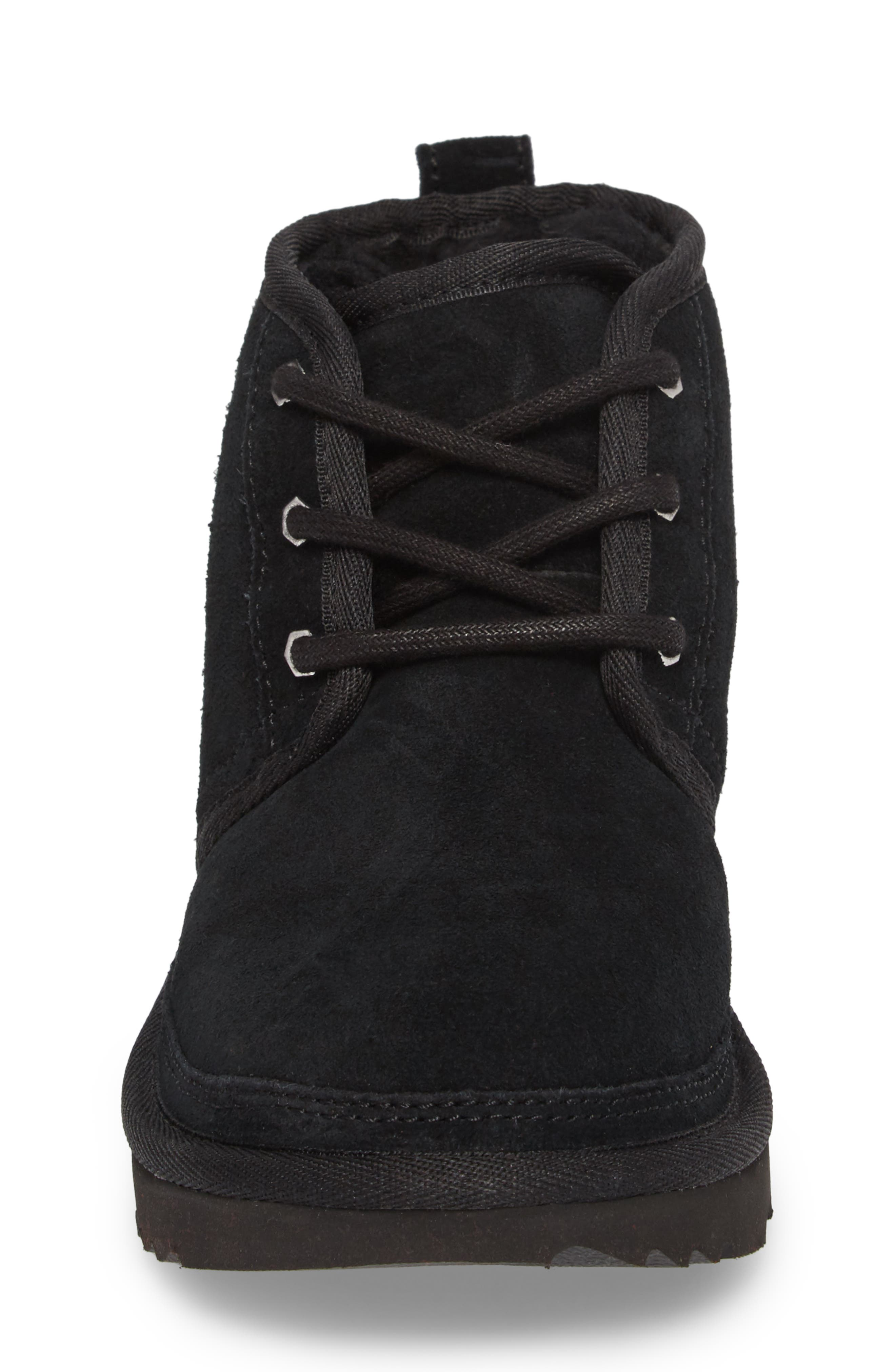 Neumel II Water Resistant Chukka Boot,                             Alternate thumbnail 4, color,                             Black