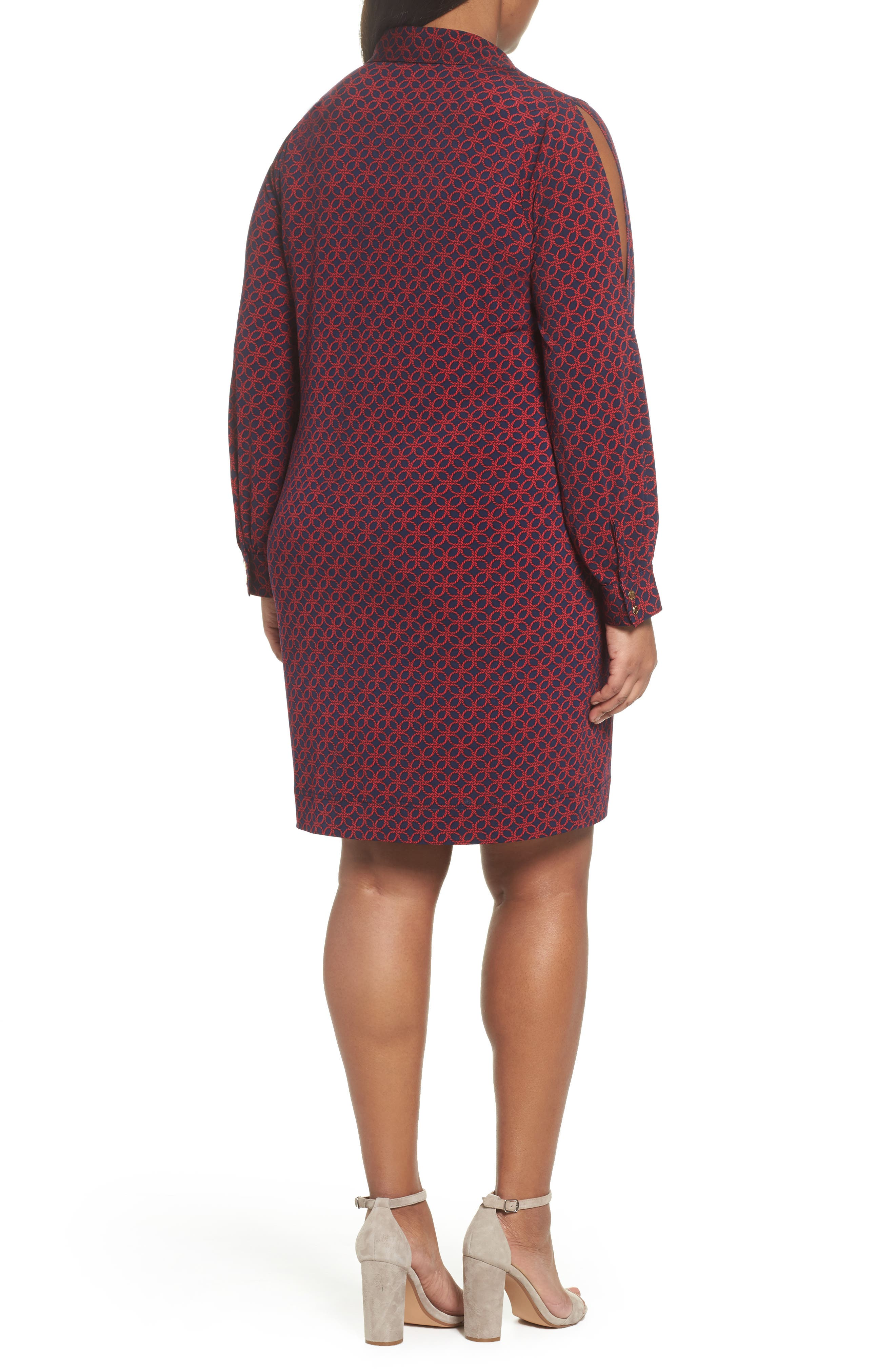 Alternate Image 2  - MICHAEL Michael Kors Geo Rope Print Shirtdress (Plus Size)