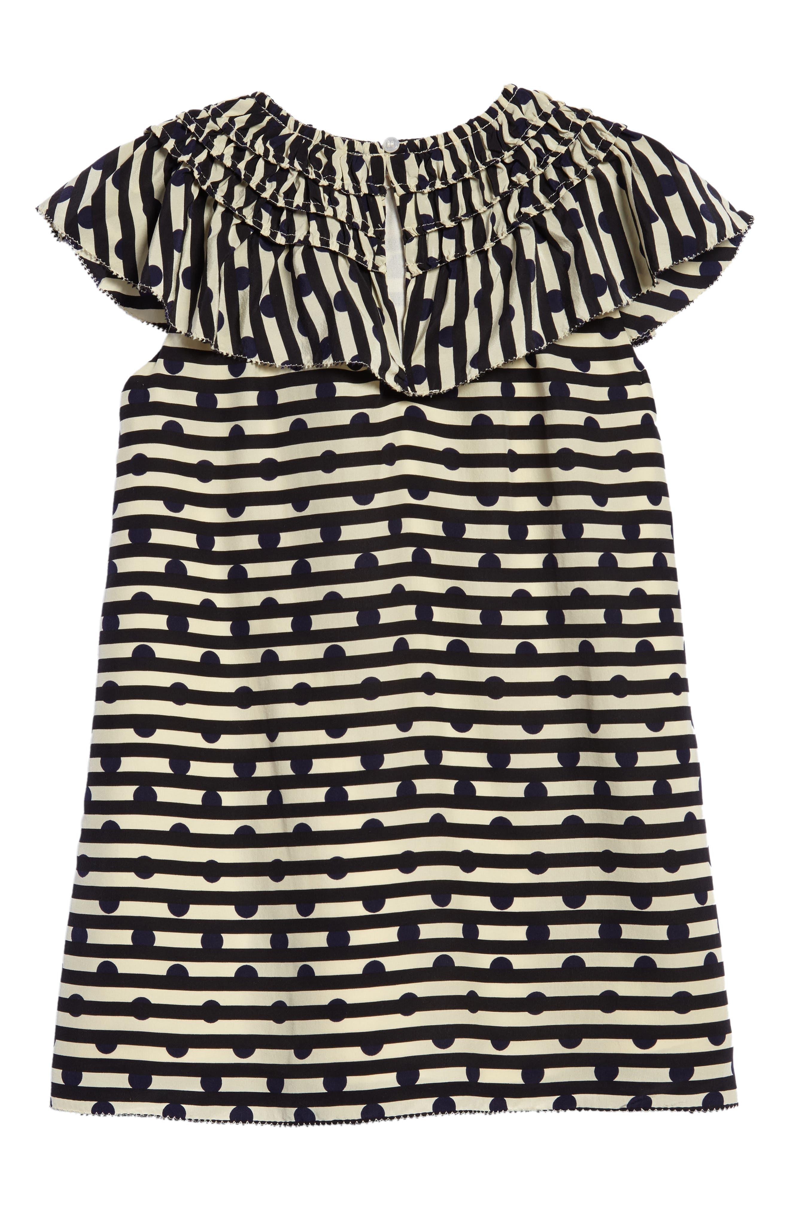 Alternate Image 2  - Burberry Lilla Silk Shift Dress (Little Girls & Big Girls)