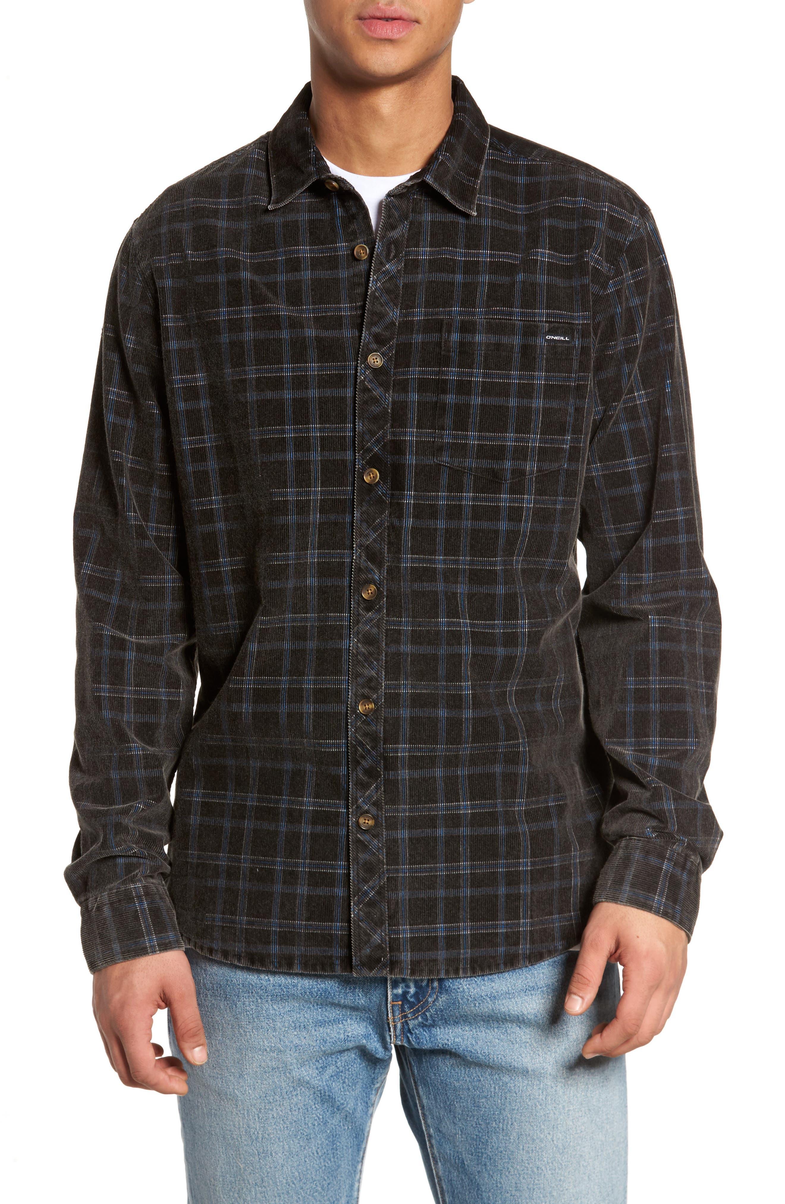 Bradley Corduroy Shirt,                         Main,                         color, Black