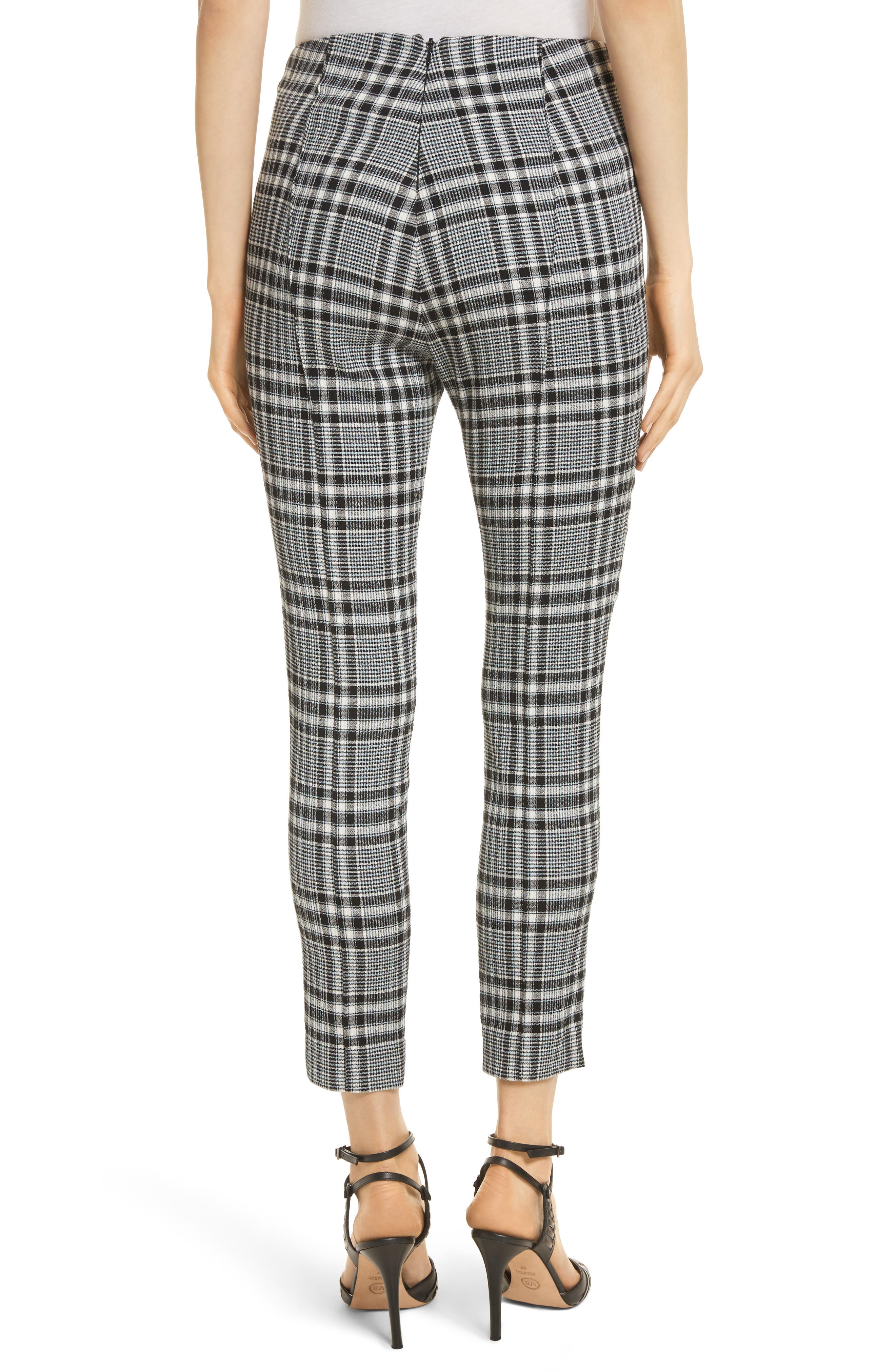 Honolulu Plaid Crop Pants,                             Alternate thumbnail 2, color,                             Black/ Blue