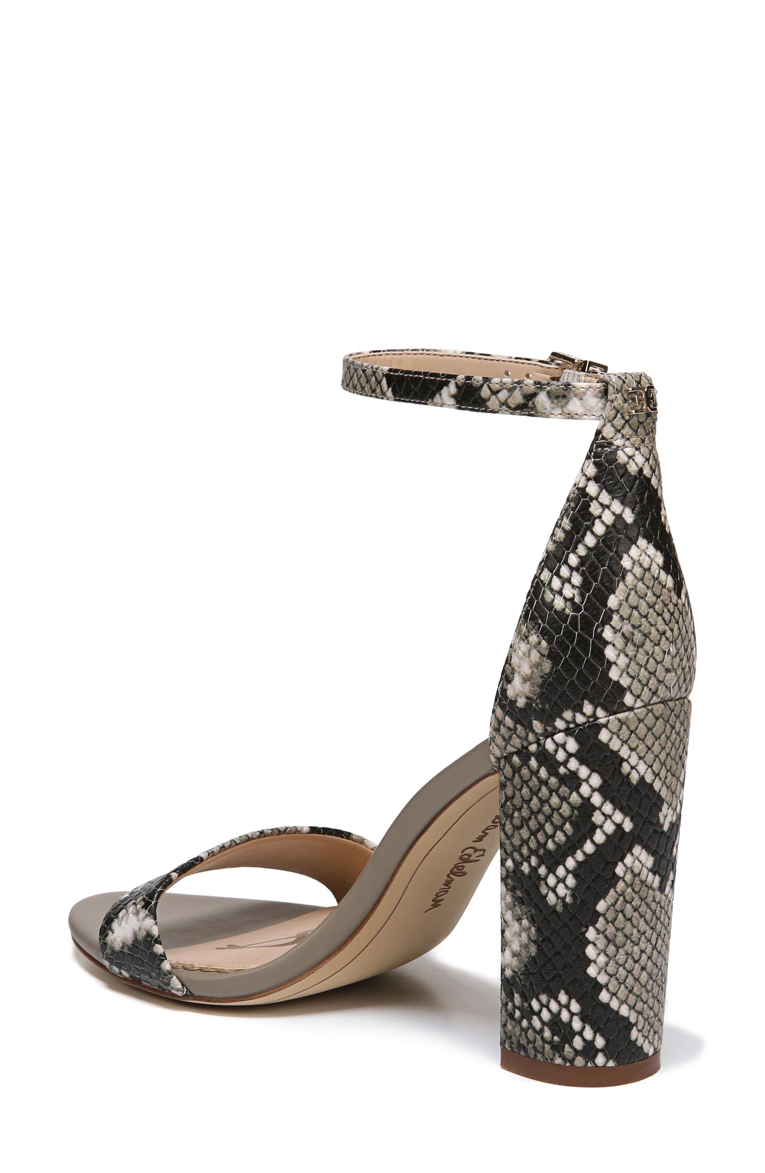 Yaro Ankle Strap Sandal,                             Alternate thumbnail 2, color,                             Natural Snake Print Leather