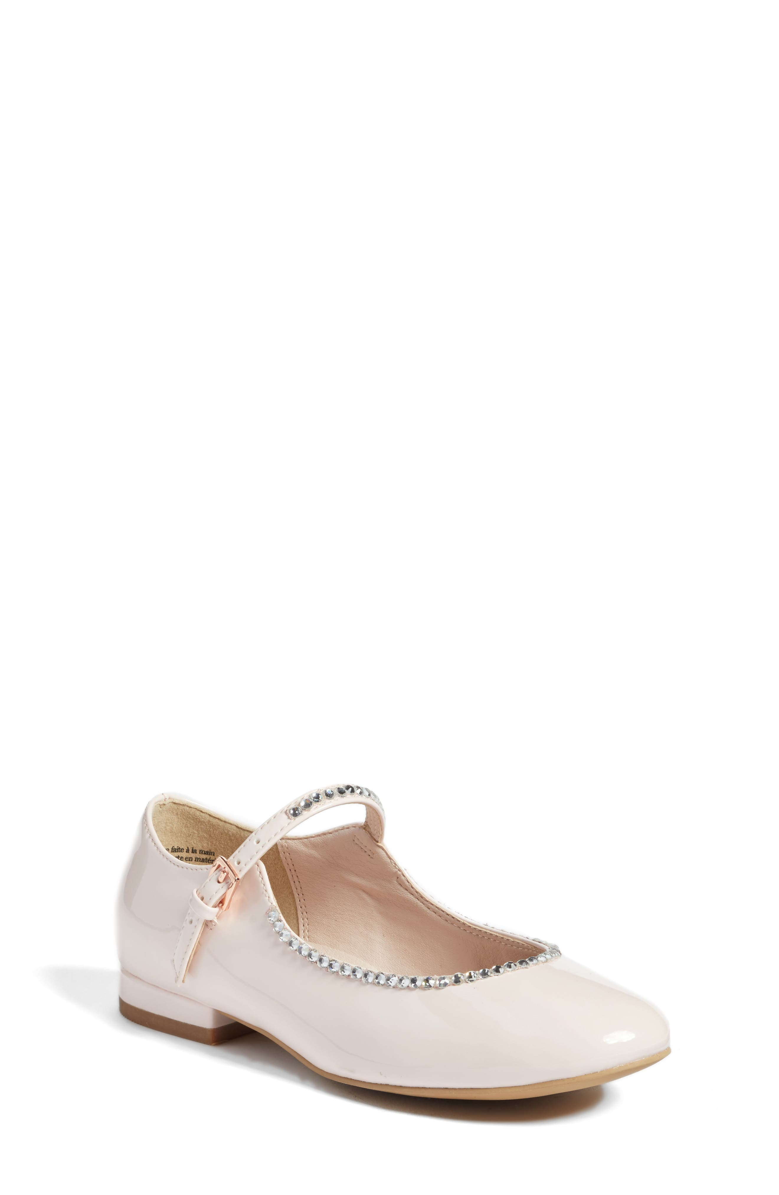 Harlow Embellished Mary Jane,                         Main,                         color, Pale Pink Faux Patent