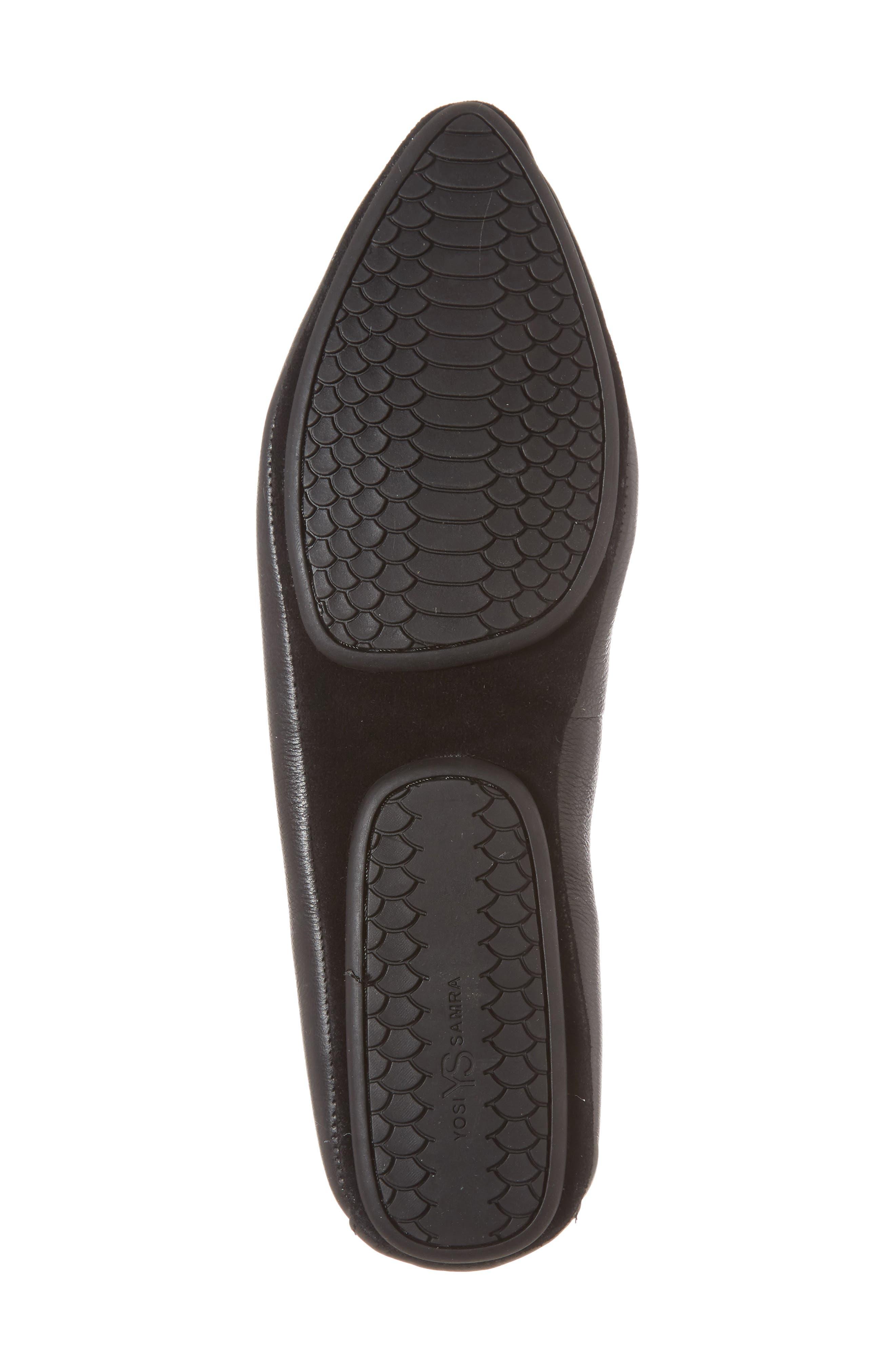 Vera Studded Loafer,                             Alternate thumbnail 6, color,                             Black/ Black Leather