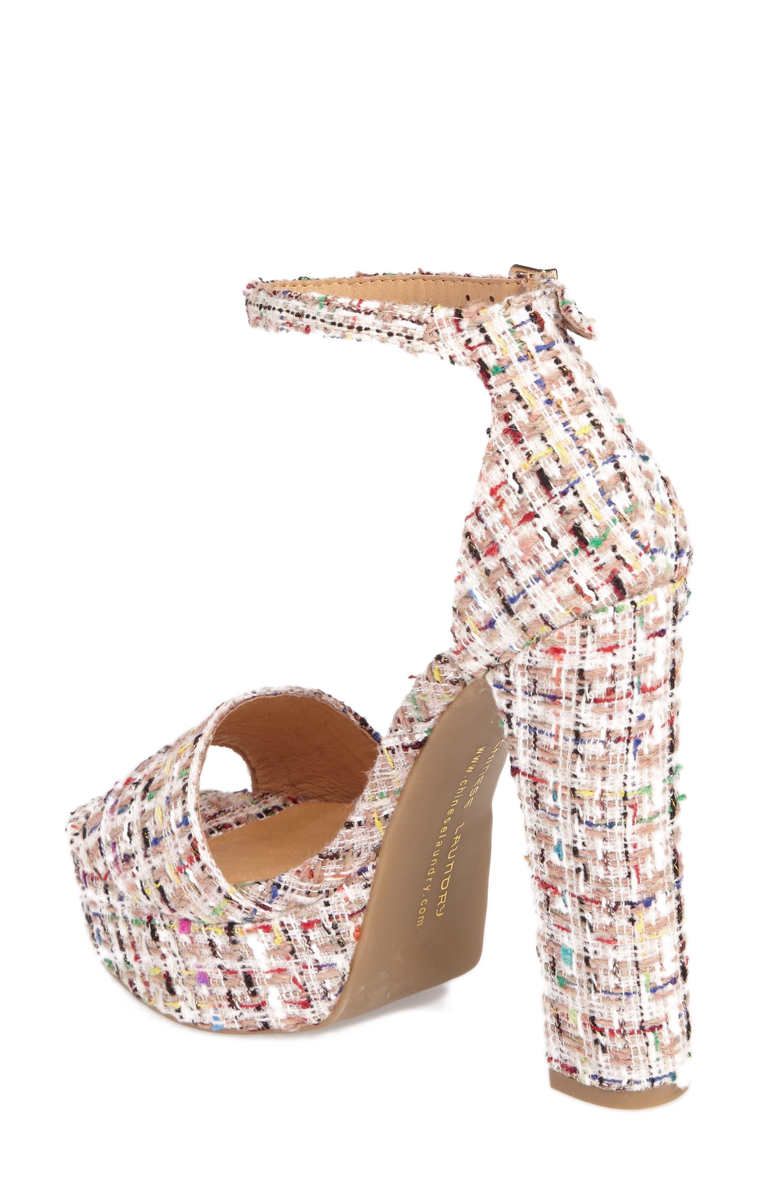 'Avenue' Sandal,                             Alternate thumbnail 2, color,                             Pink Tweed