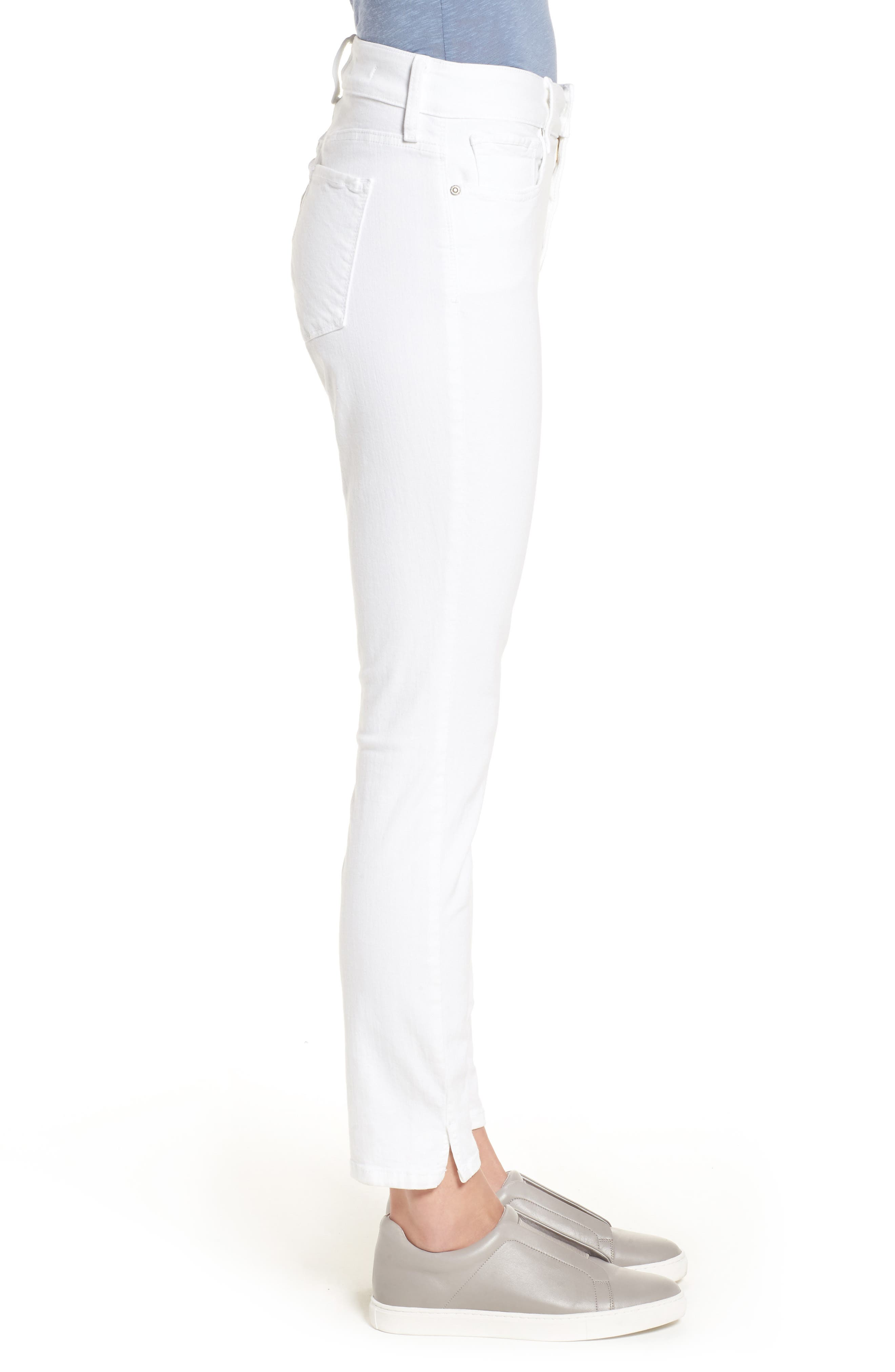 Ami Stretch Ankle Skinny Jeans,                             Alternate thumbnail 3, color,                             Optic White