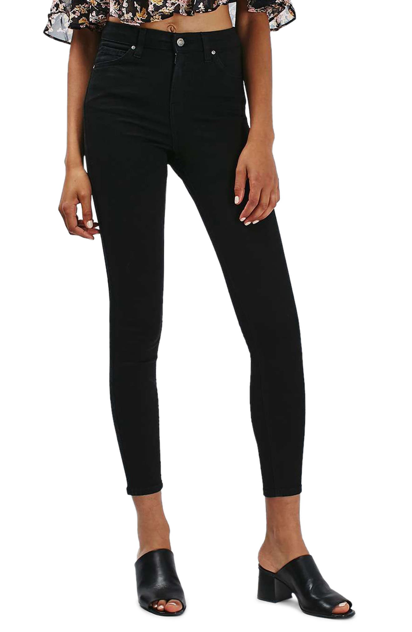 Alternate Image 1 Selected - Topshop Jamie High Waist Ankle Grazer Skinny Jeans