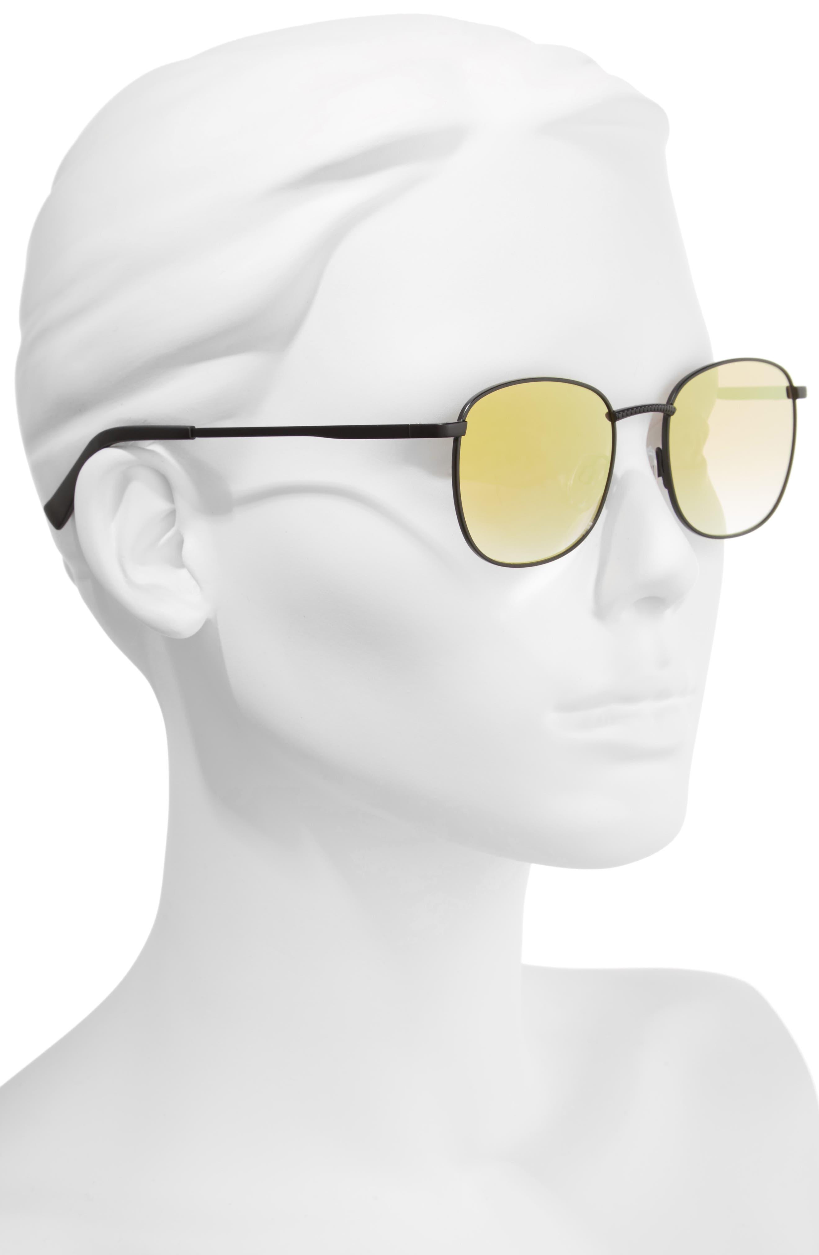 Neptune 49mm Sunglasses,                             Alternate thumbnail 2, color,                             Matte Black
