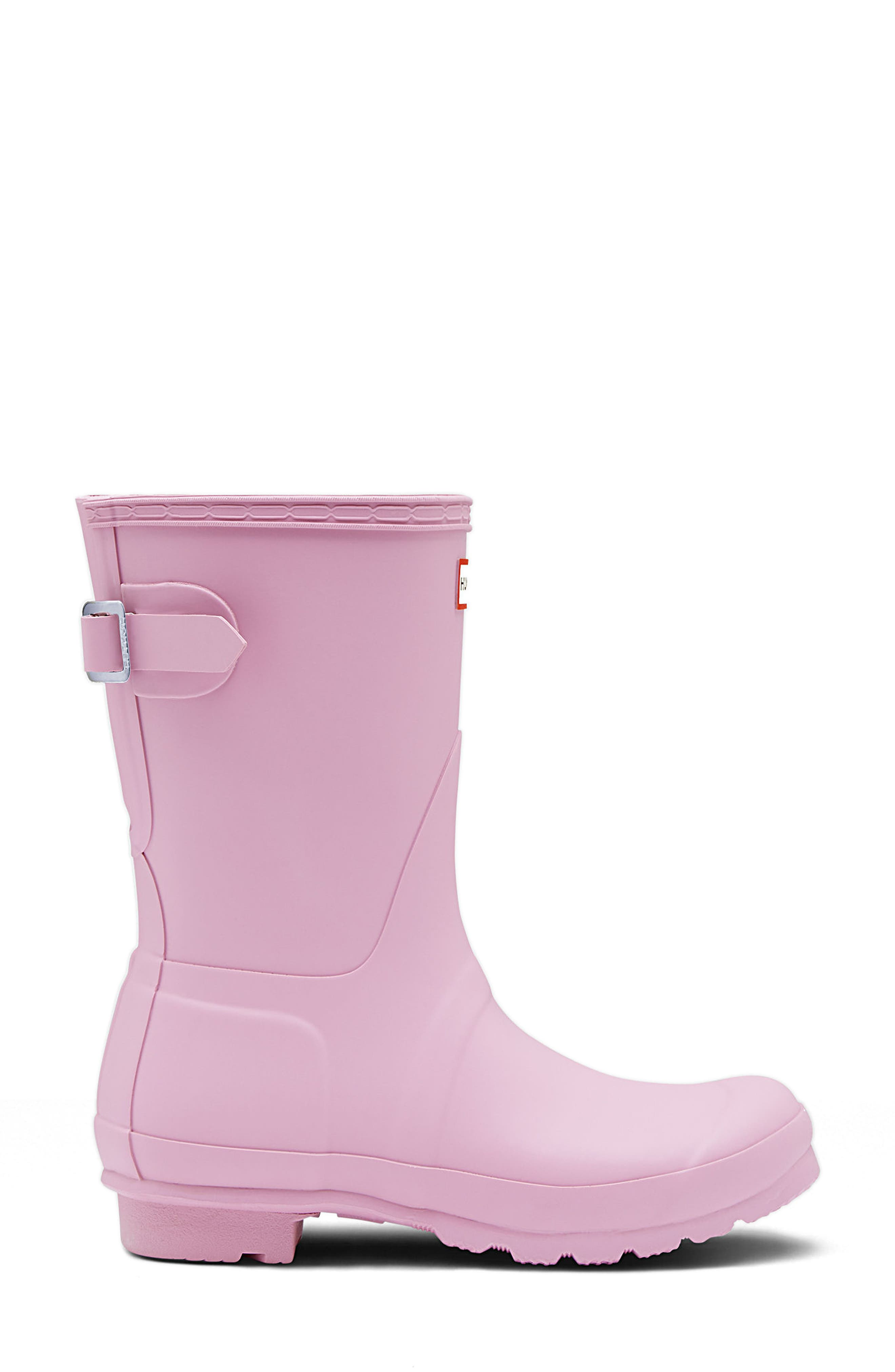 Original Short Back Adjustable Rain Boot,                             Alternate thumbnail 3, color,                             Blossom
