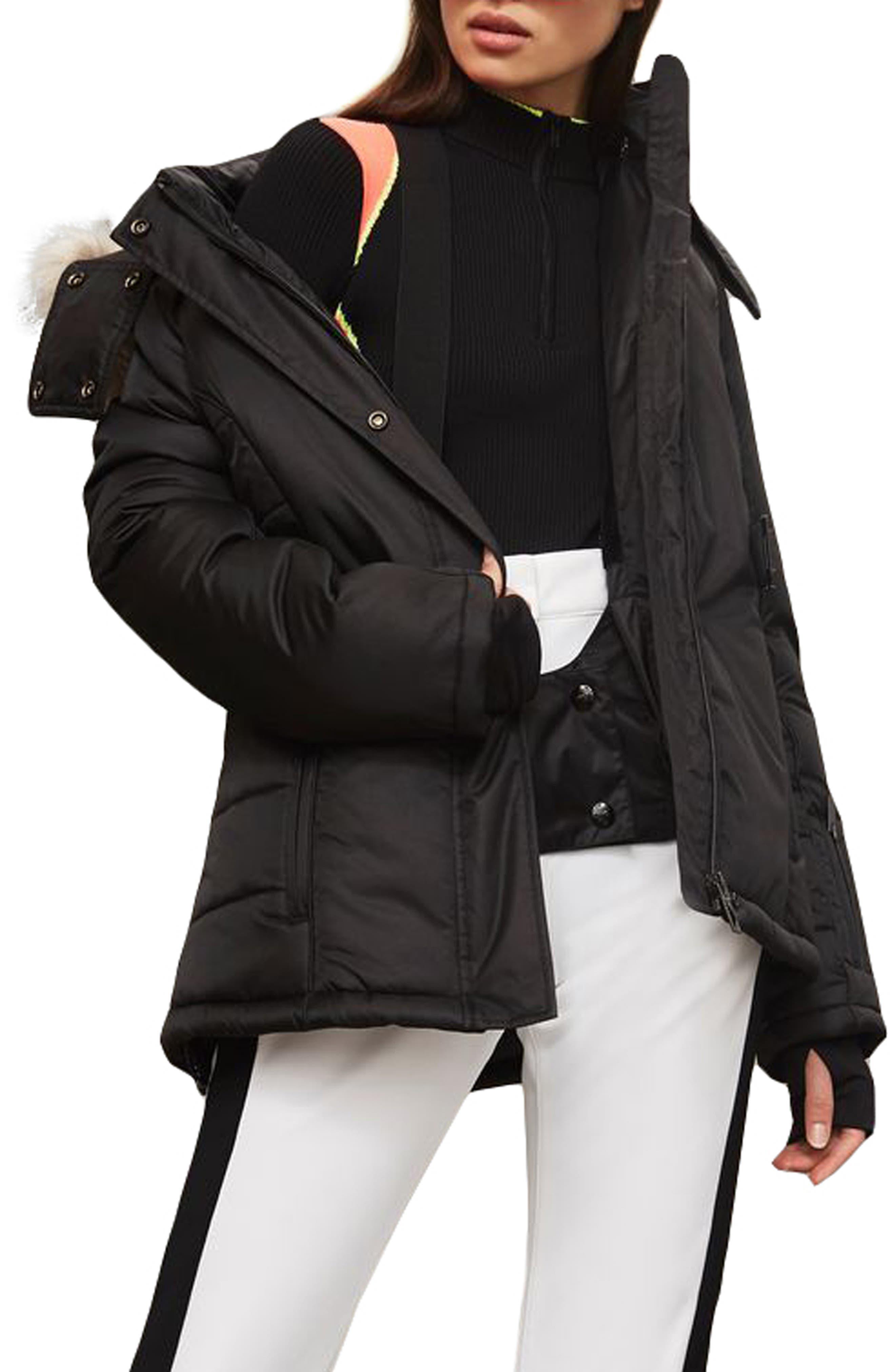 SNO Amazon Puffer Jacket,                             Alternate thumbnail 4, color,                             Black