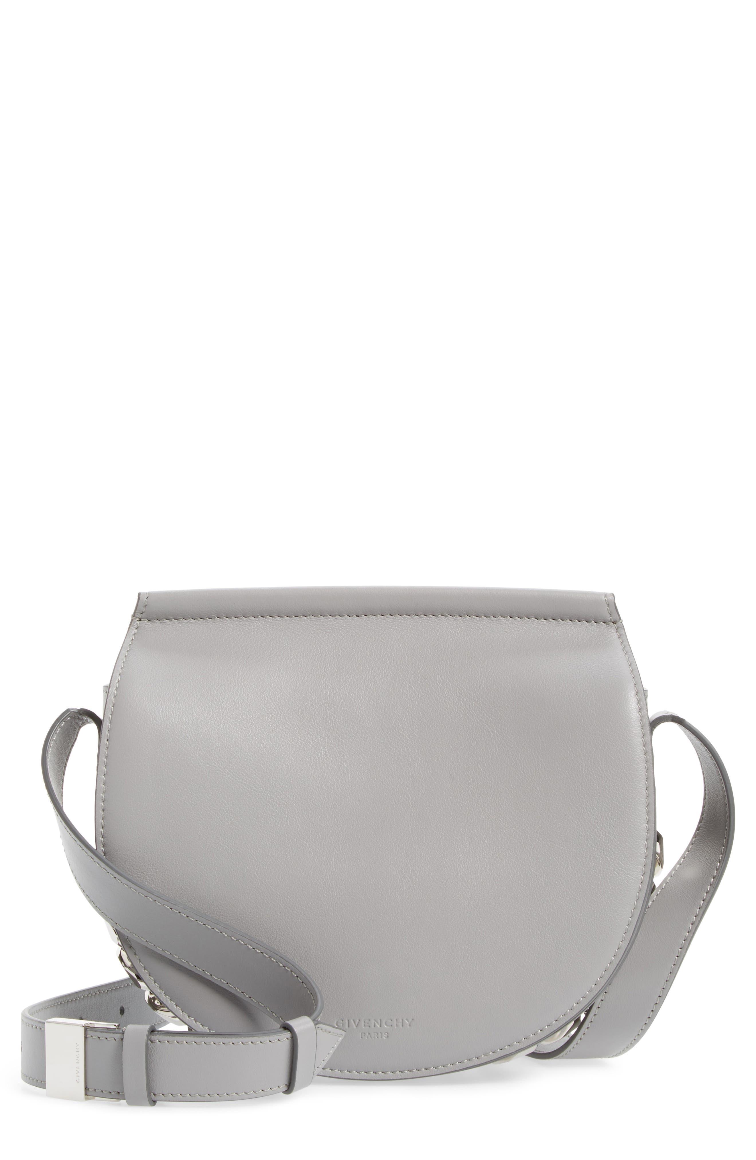 Main Image - Givenchy Mini Infinity Calfskin Leather Saddle Bag