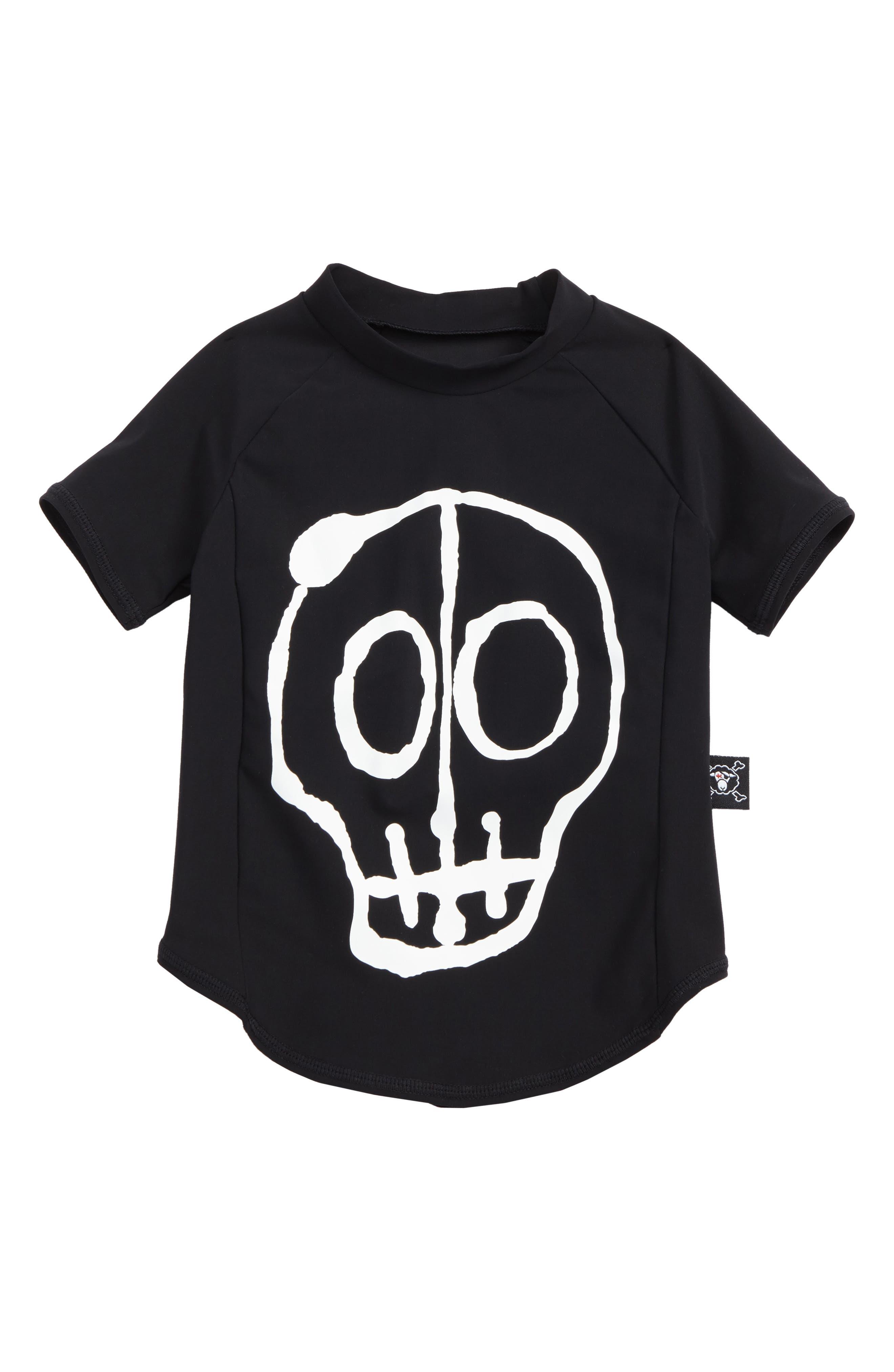 Skull Mask Rashguard,                             Main thumbnail 1, color,                             Black