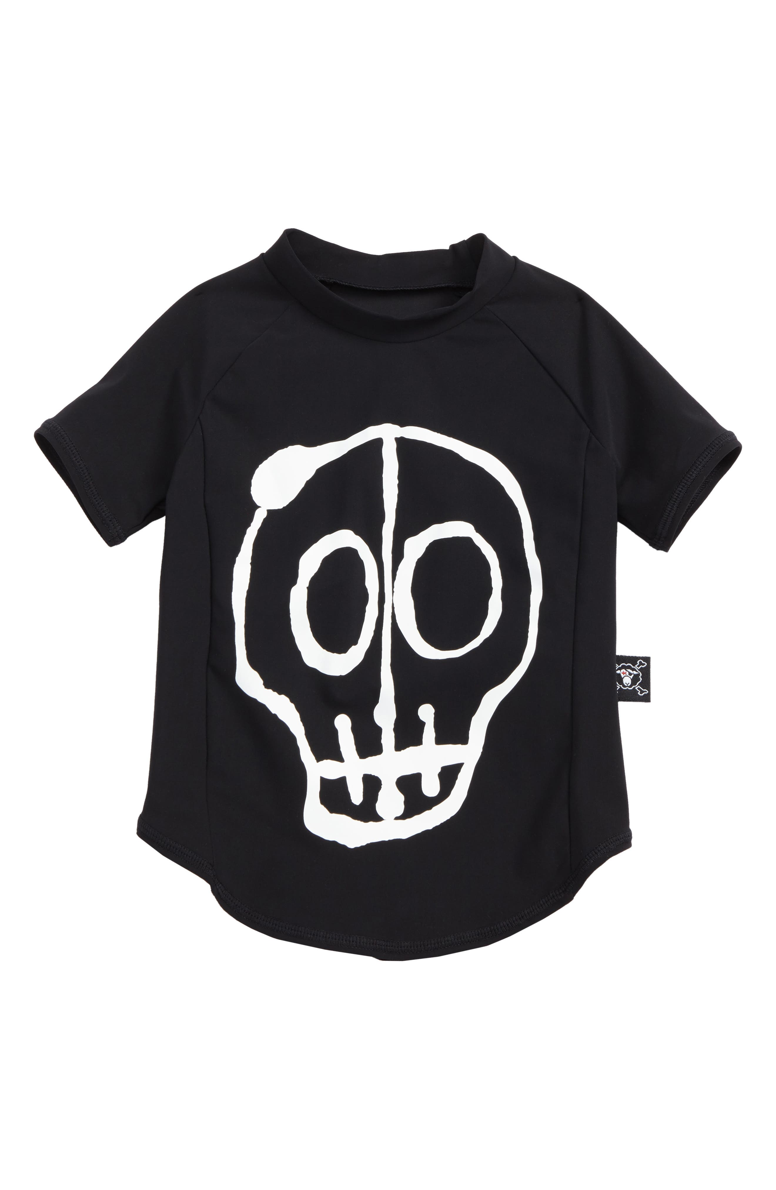 Skull Mask Rashguard,                         Main,                         color, Black