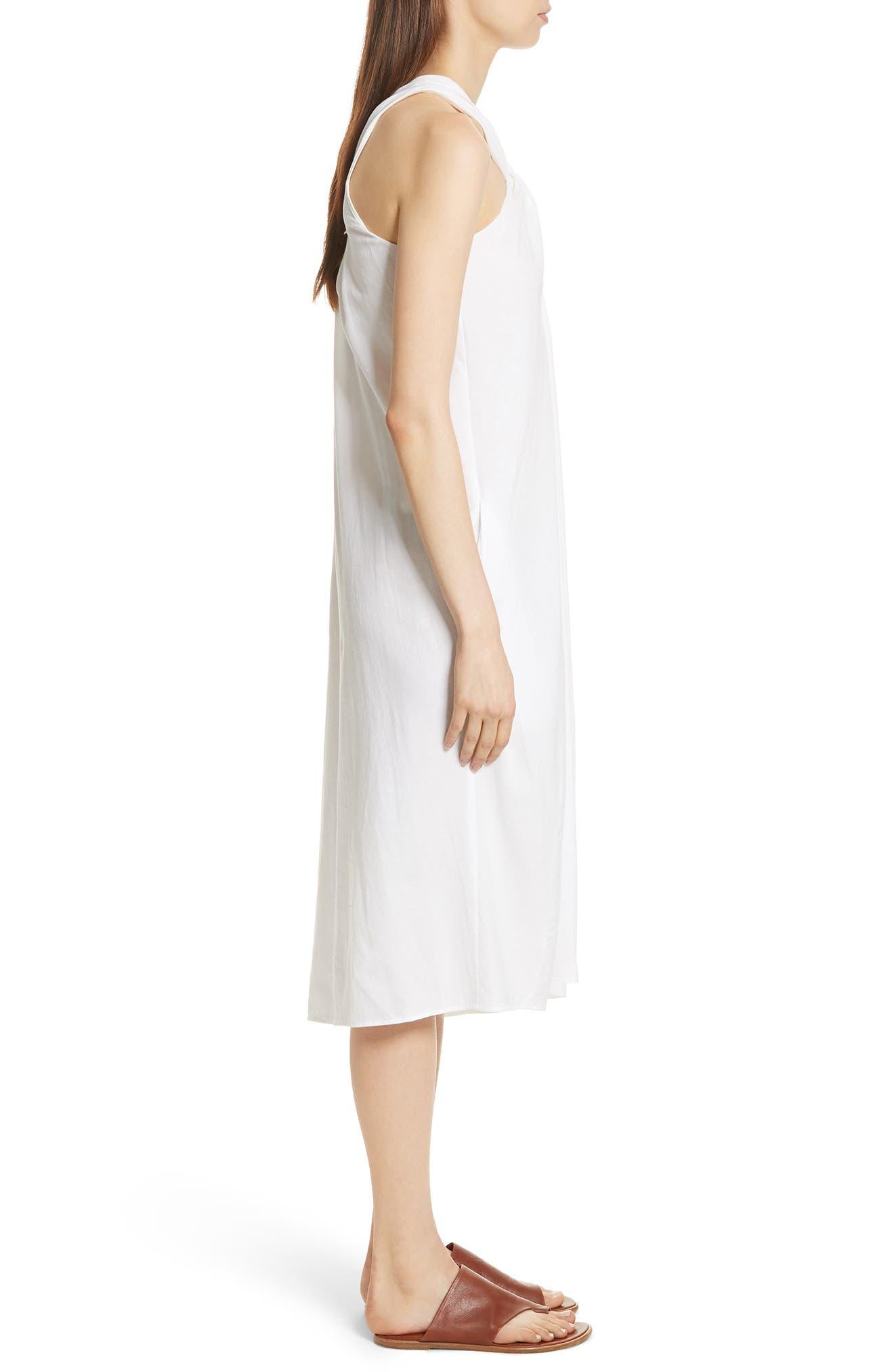 Twist Front Dress,                             Alternate thumbnail 7, color,                             Optic White