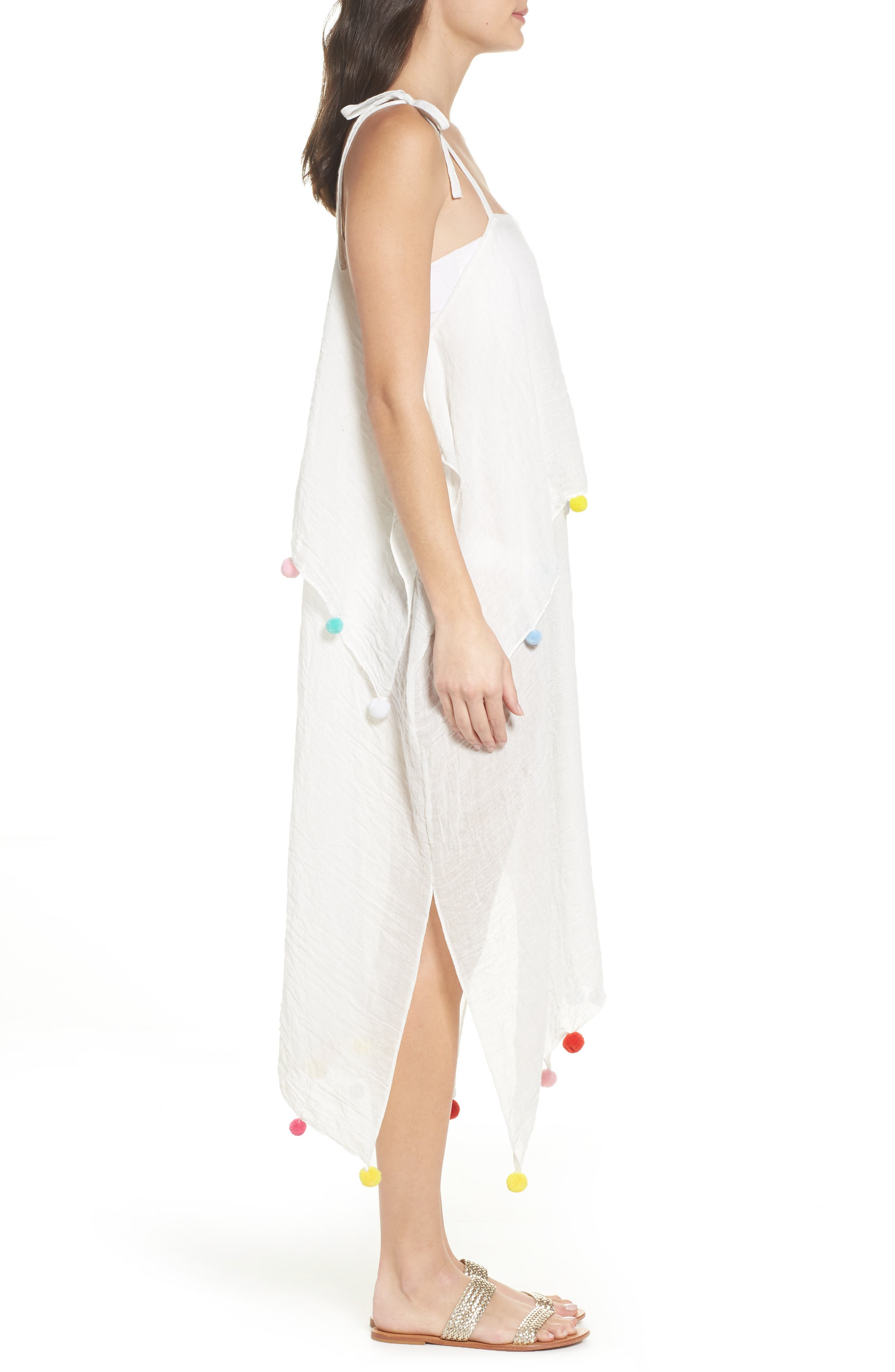 Day to Night Cover-Up Dress,                             Alternate thumbnail 3, color,                             White