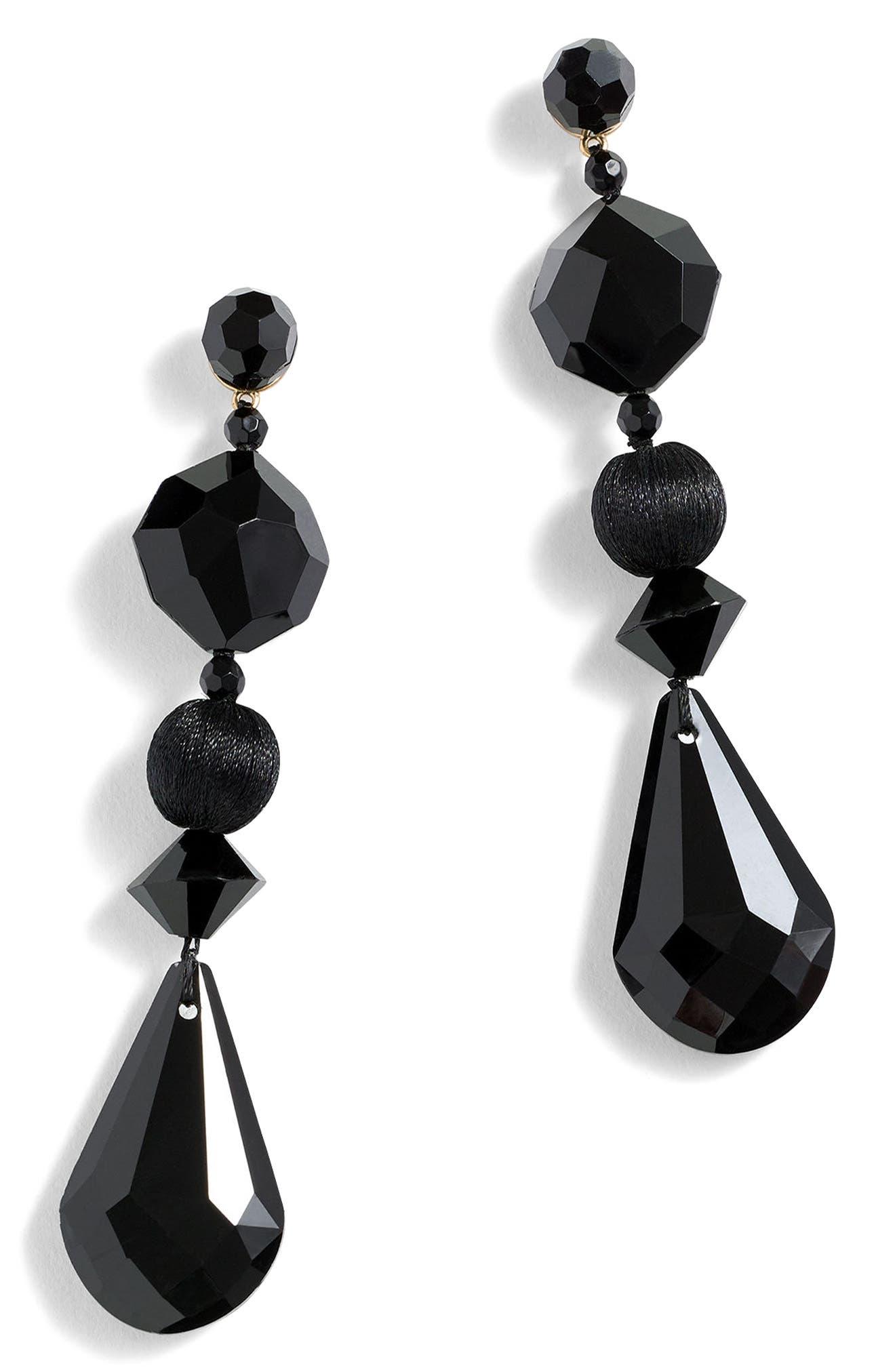 Bead Forest Earrings,                             Alternate thumbnail 2, color,                             Black