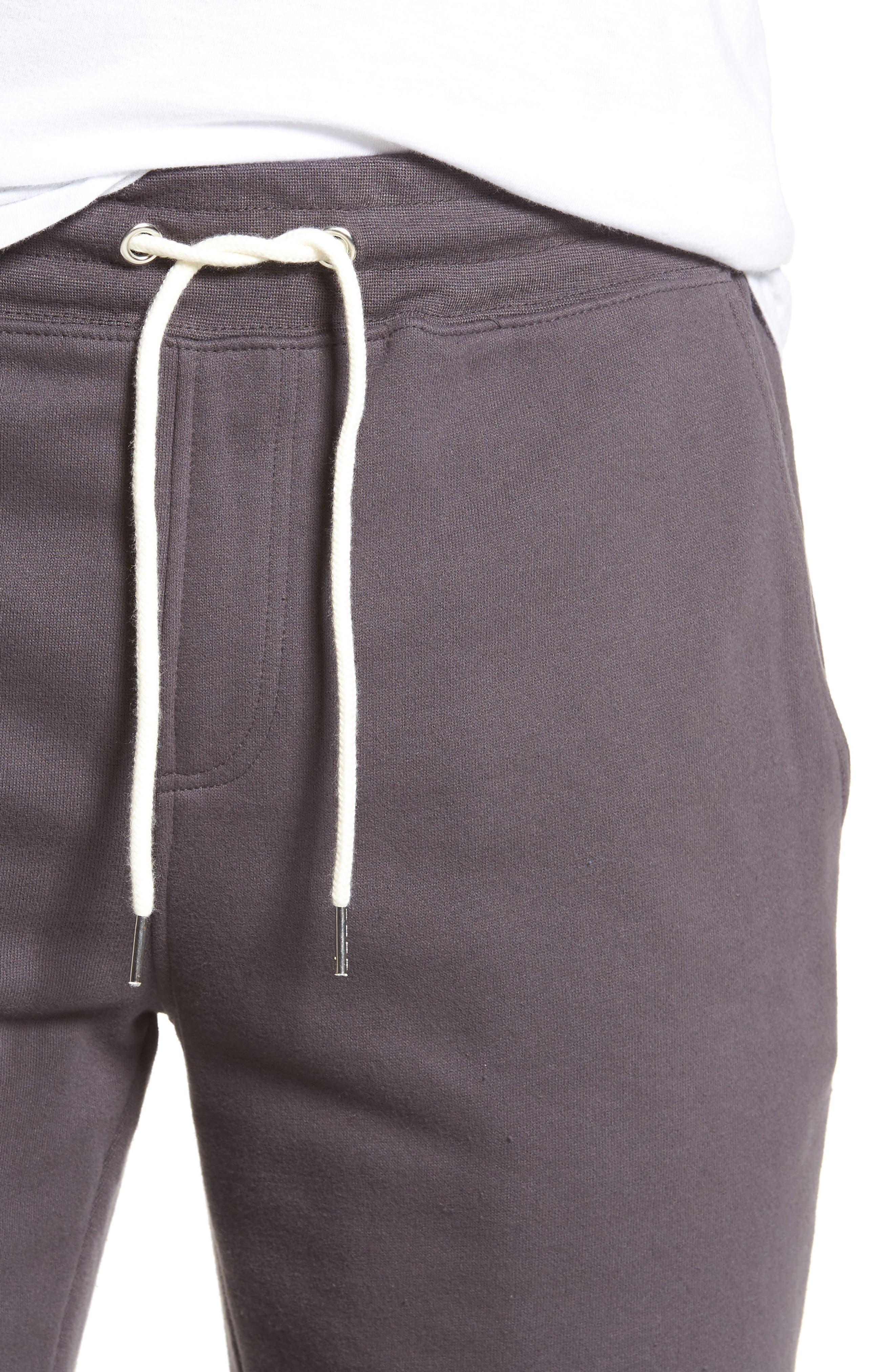Fleece Shorts,                             Alternate thumbnail 4, color,                             Grey Onyx