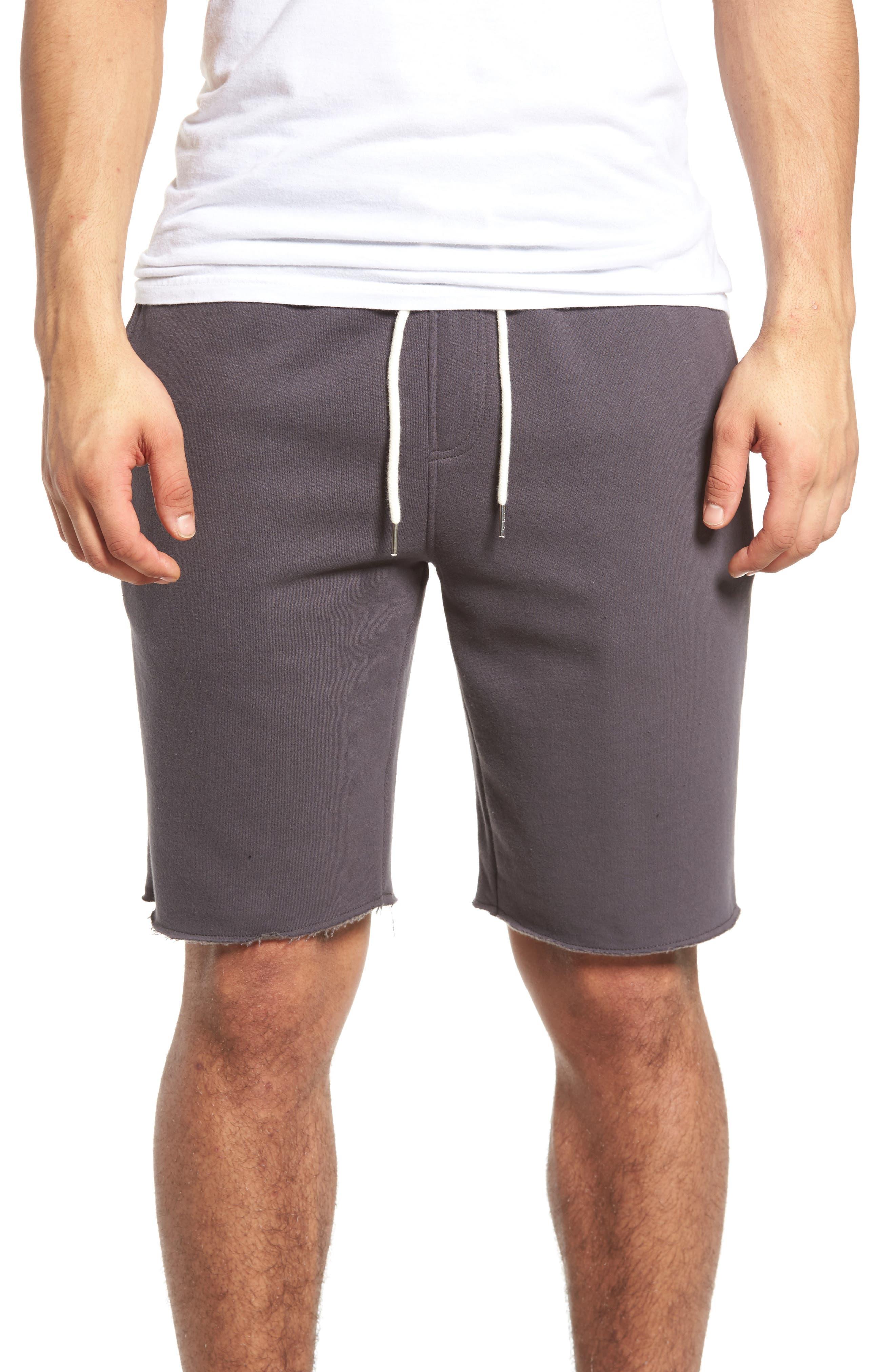 Fleece Shorts,                             Main thumbnail 1, color,                             Grey Onyx