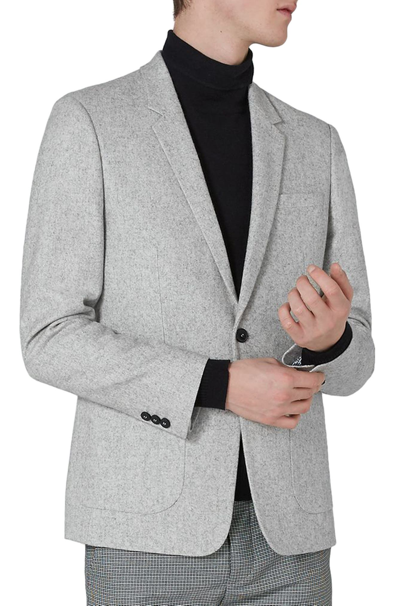 Murdoch One-Button Jacket,                             Main thumbnail 1, color,                             Light Grey