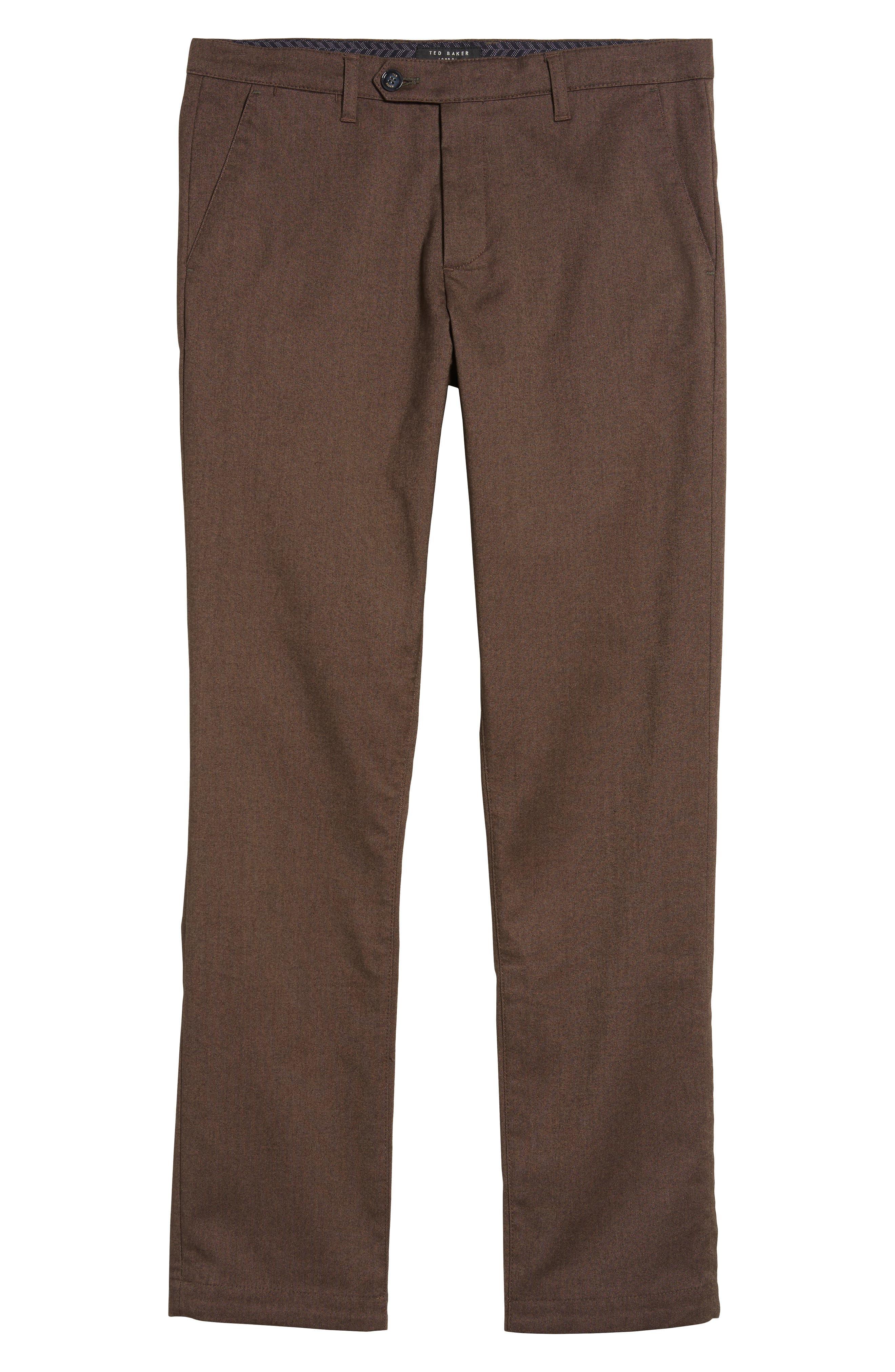 Freshman Modern Fit Brushed Pants,                             Alternate thumbnail 6, color,                             Brown
