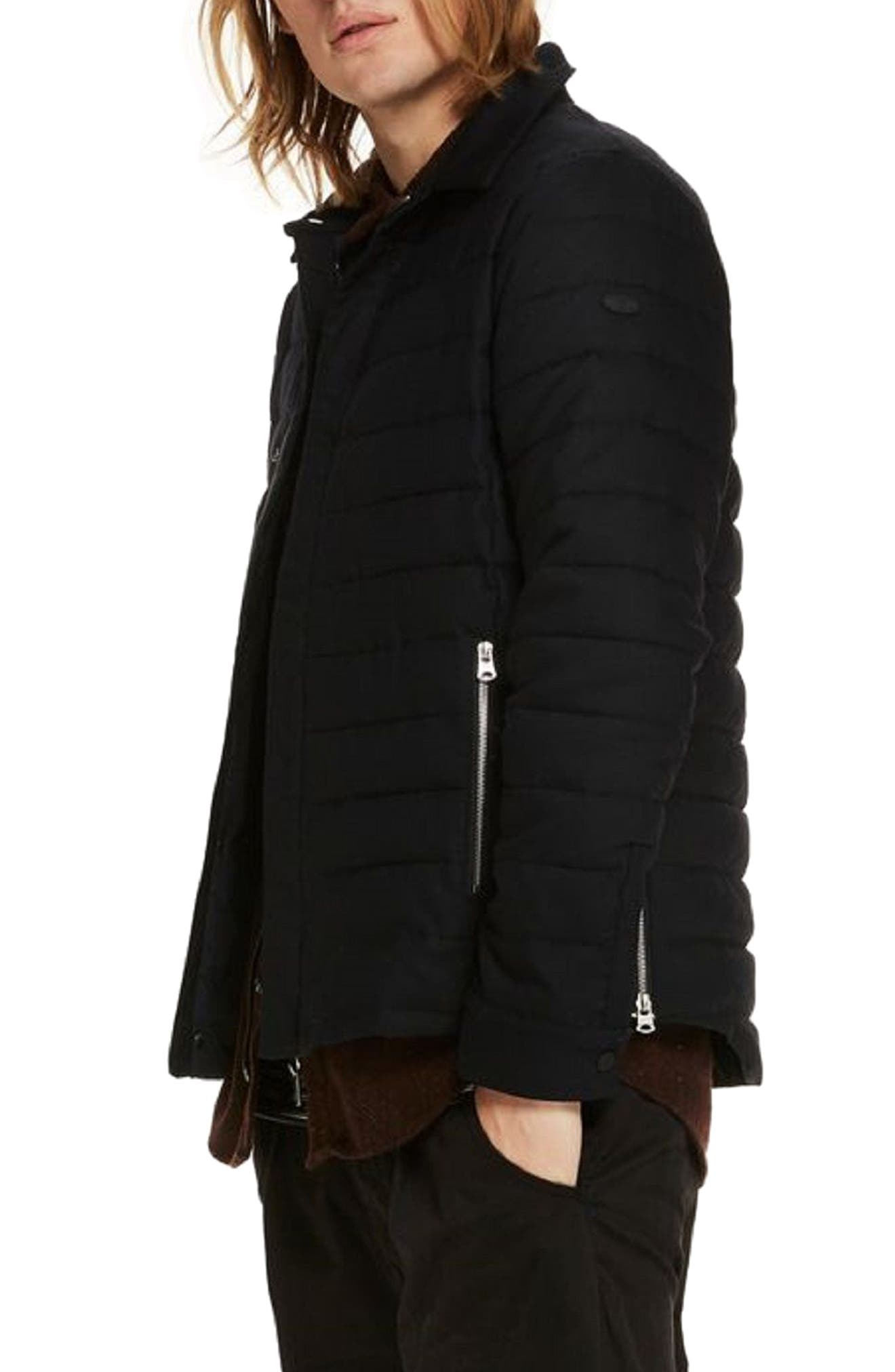 Quilted Jacket,                             Alternate thumbnail 3, color,                             Night