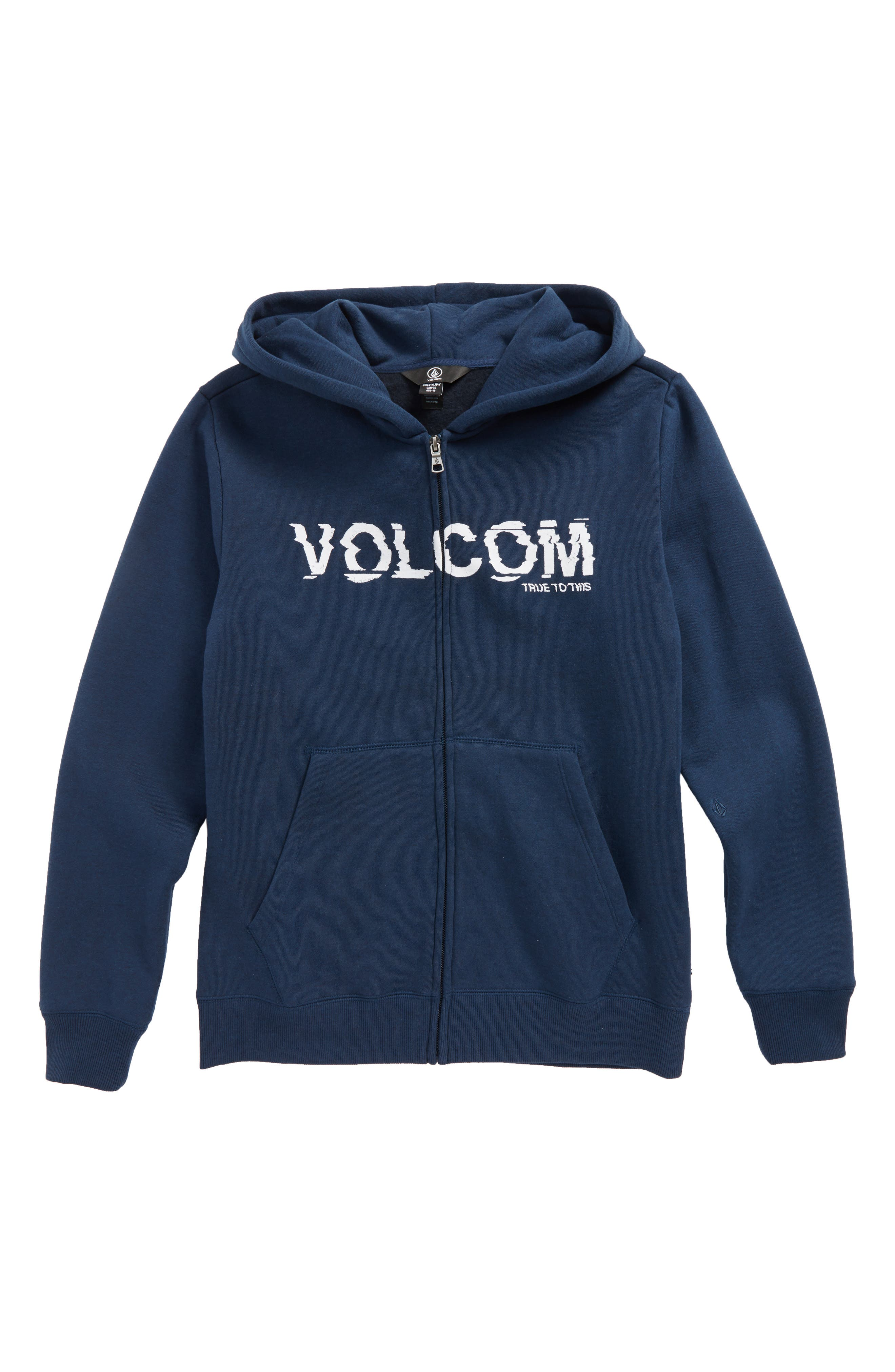 Alternate Image 1 Selected - Volcom Supply Stone Graphic Zip Hoodie (Big Boys)