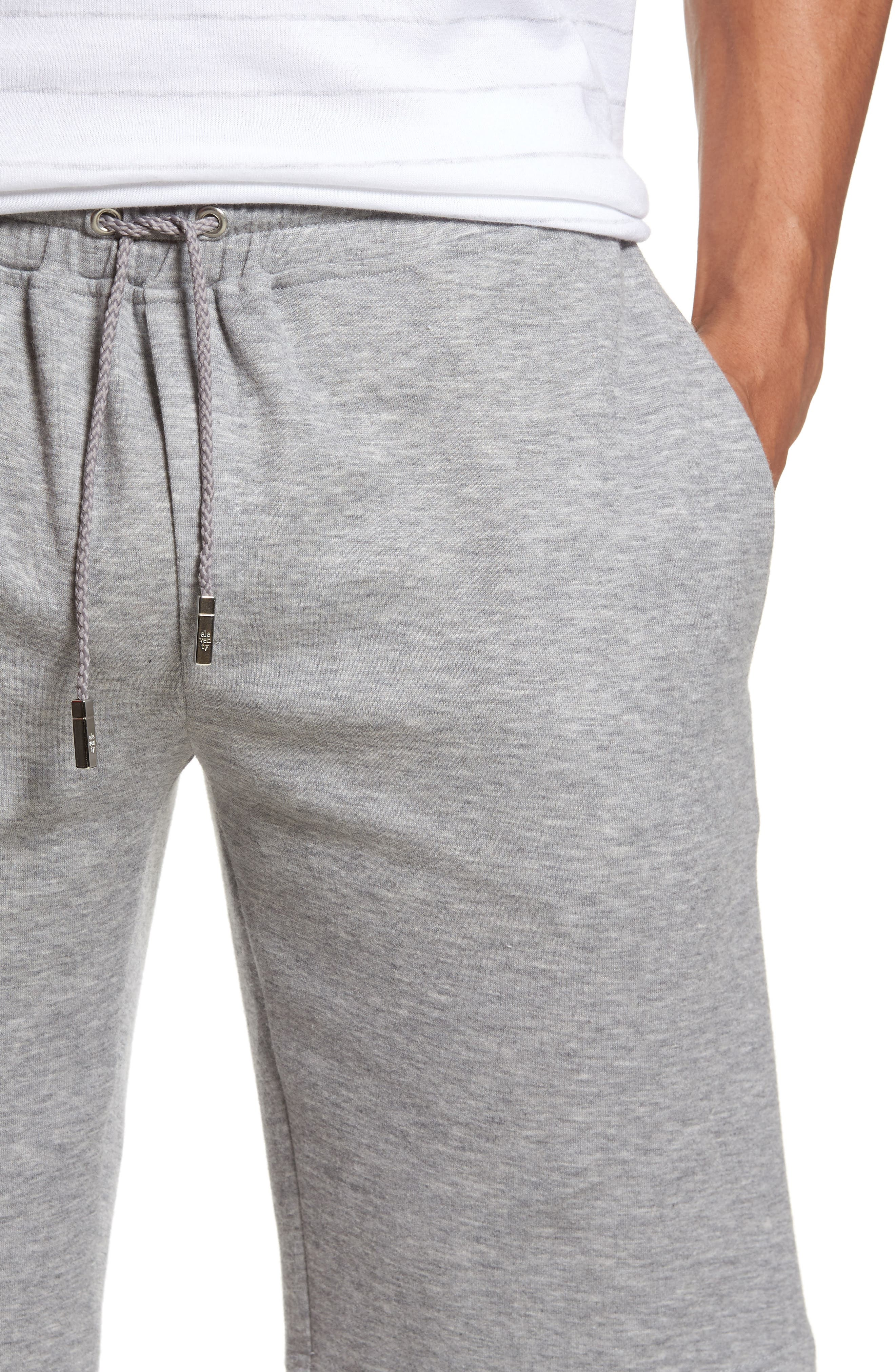 Drawstring Knit Shorts,                             Alternate thumbnail 4, color,                             Light Grey