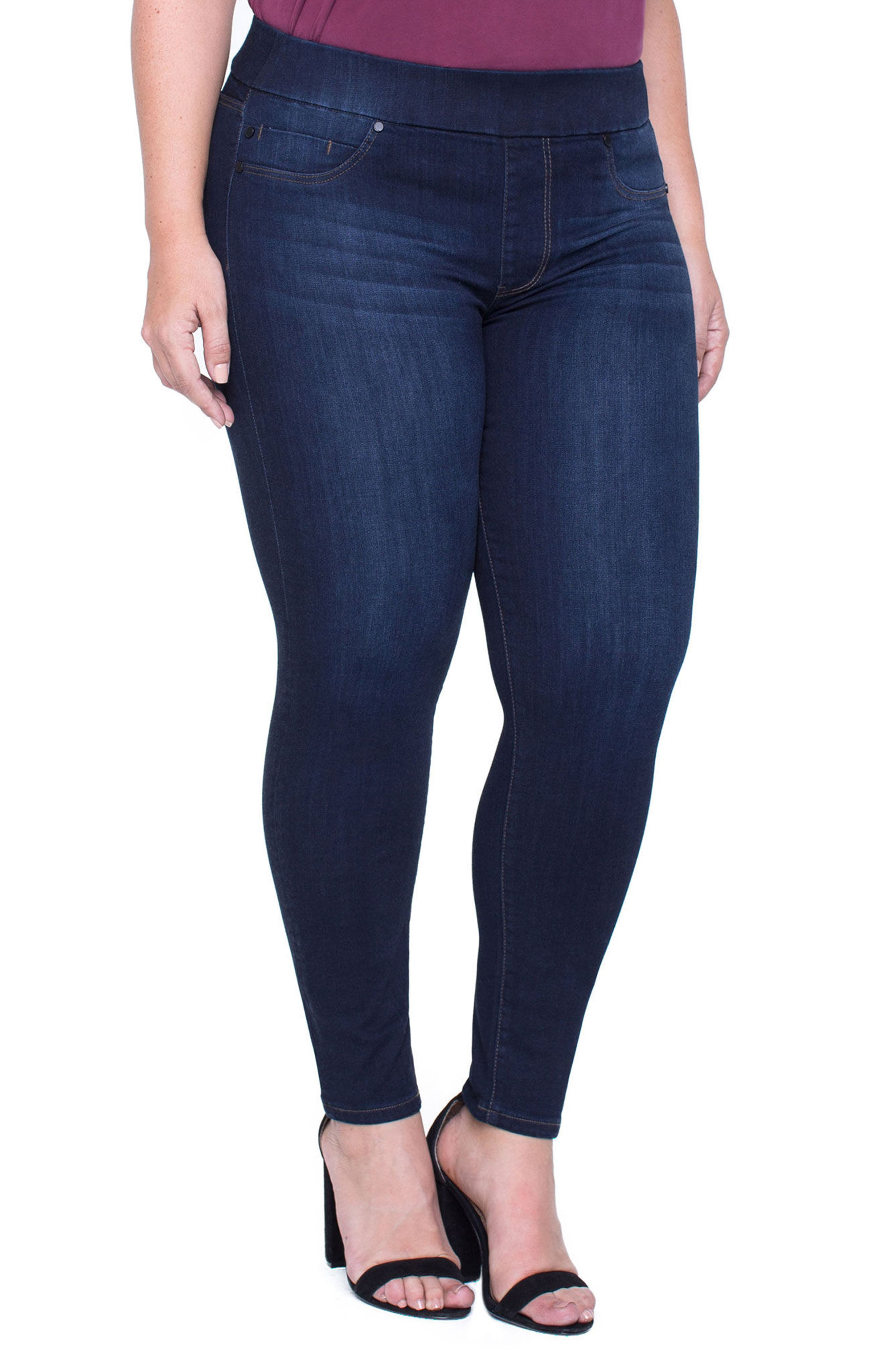Alternate Image 1 Selected - Liverpool Jeans Company Sienna Pull-On Stretch Ankle Jeans (Plus Size)