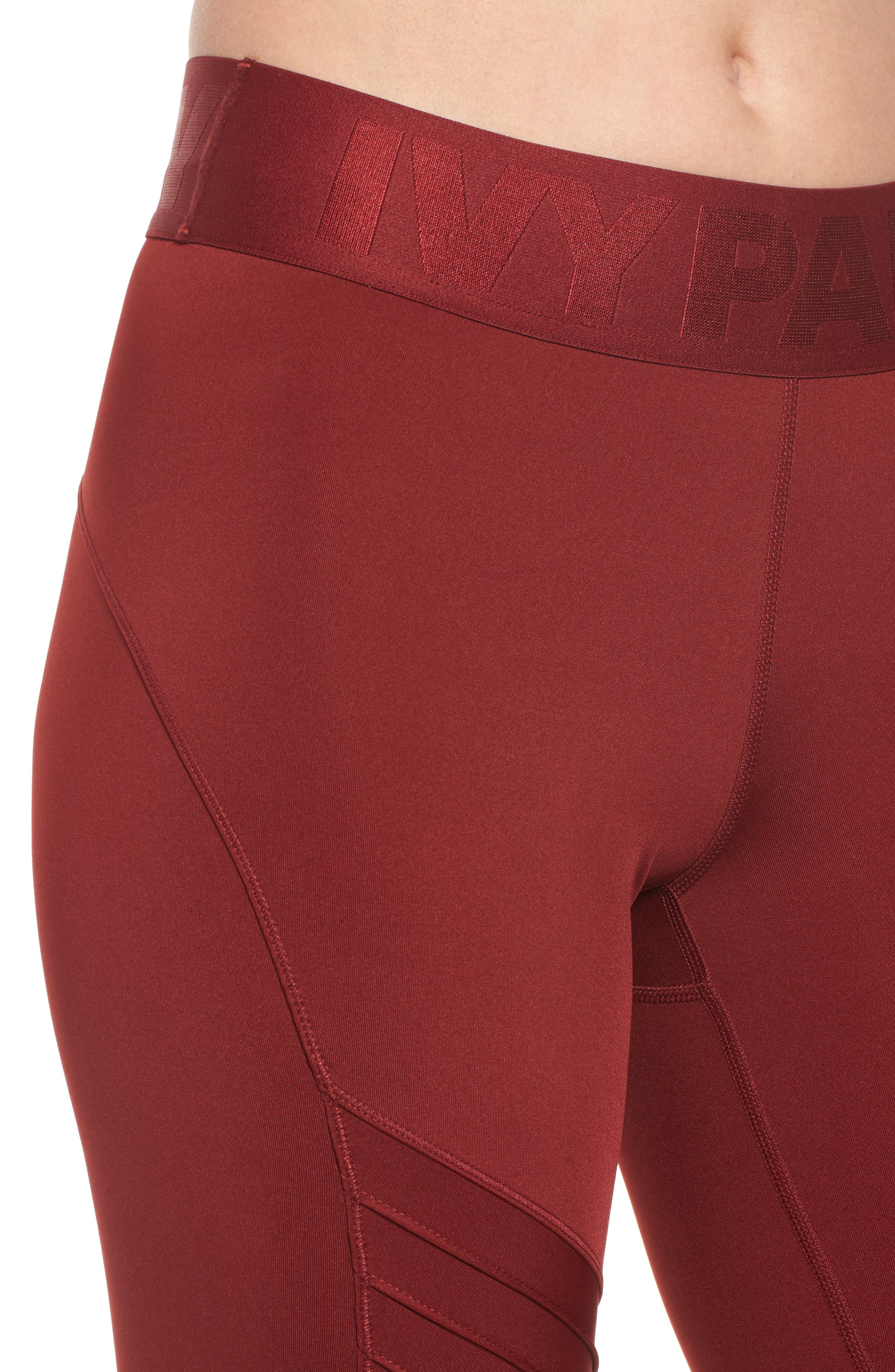 Pintuck Leggings,                             Alternate thumbnail 7, color,                             Russet