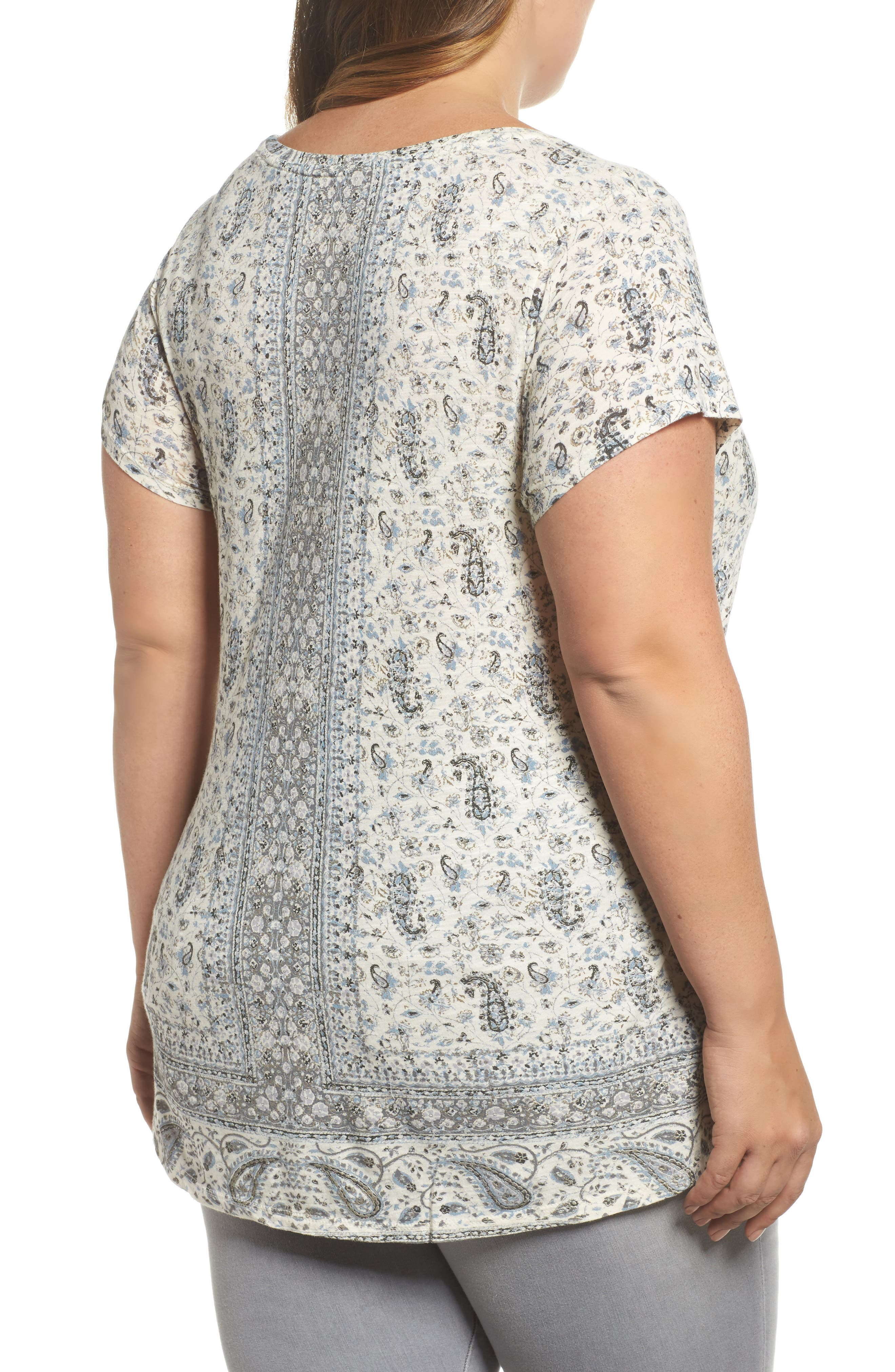 Alternate Image 2  - Lucky Brand Erun Print Tee (Plus Size)